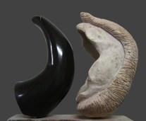 Eros 1 - Tensão Negro de Mem-martins e rosa de Negrais 35 x 36 x 18 cm 2010