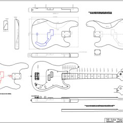 P Bass Body Dimensions 65 Mustang Alternator Wiring Diagram Cad Precision Electric Guitar Plan Fender Plans Style