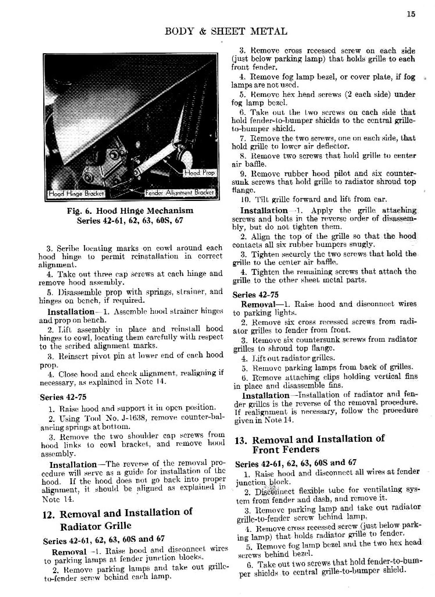 1947 Cadillac Shop Manual-Body and Sheet Metal Page 4 of 7