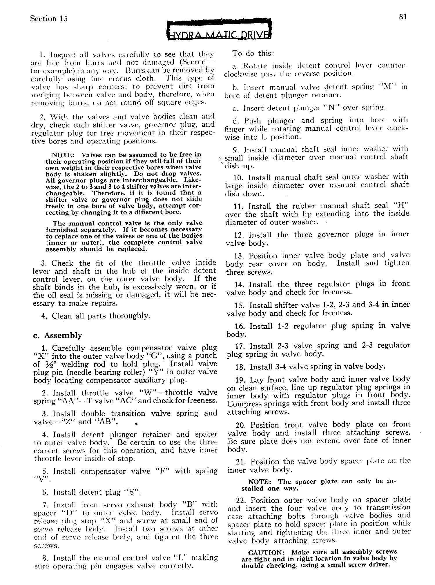 1951 Cadillac Shop Manual- Supplement Page 82 of 113
