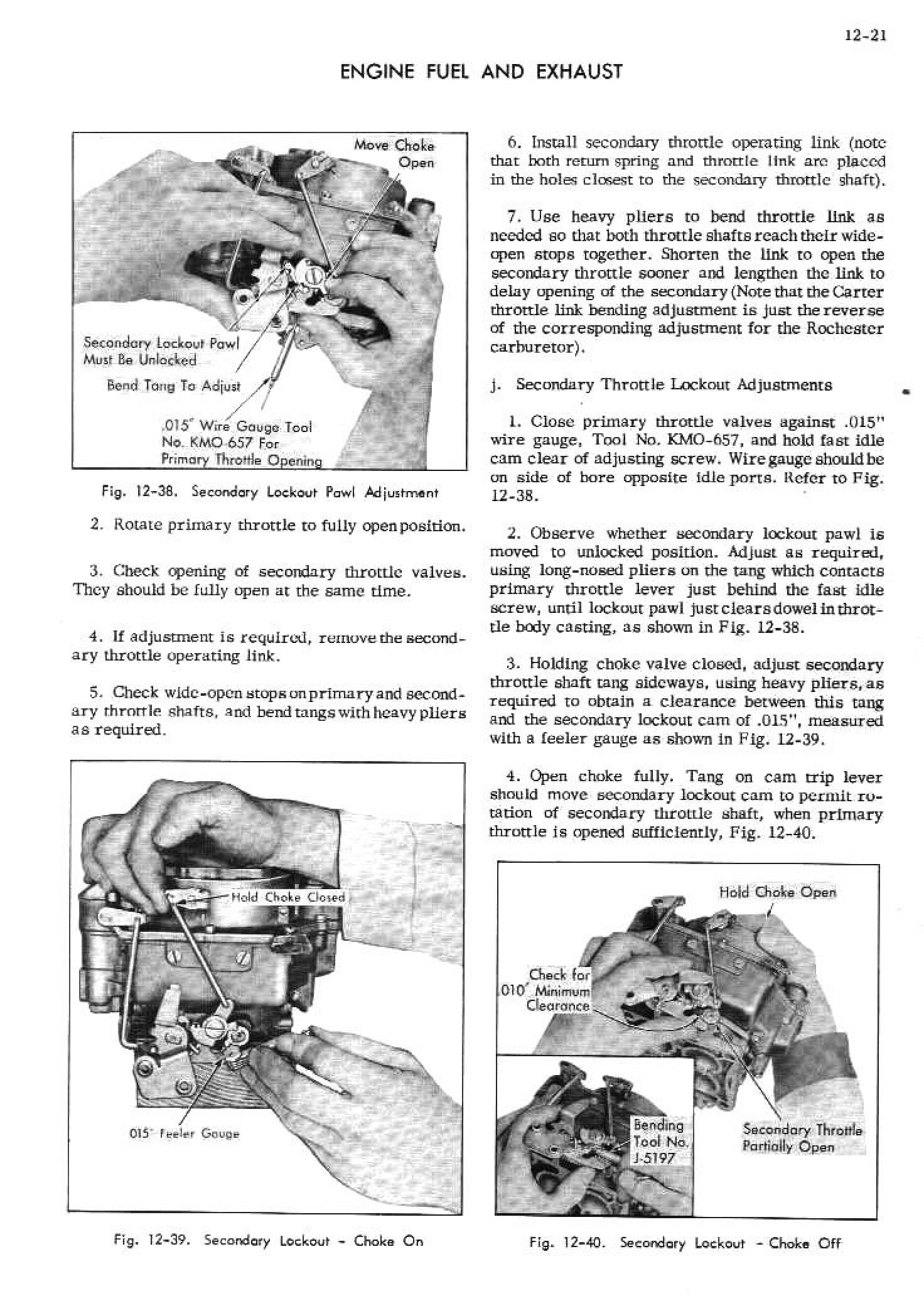 1952 Cadillac Shop Manual- Engine Fuel and Exhaust Page 21