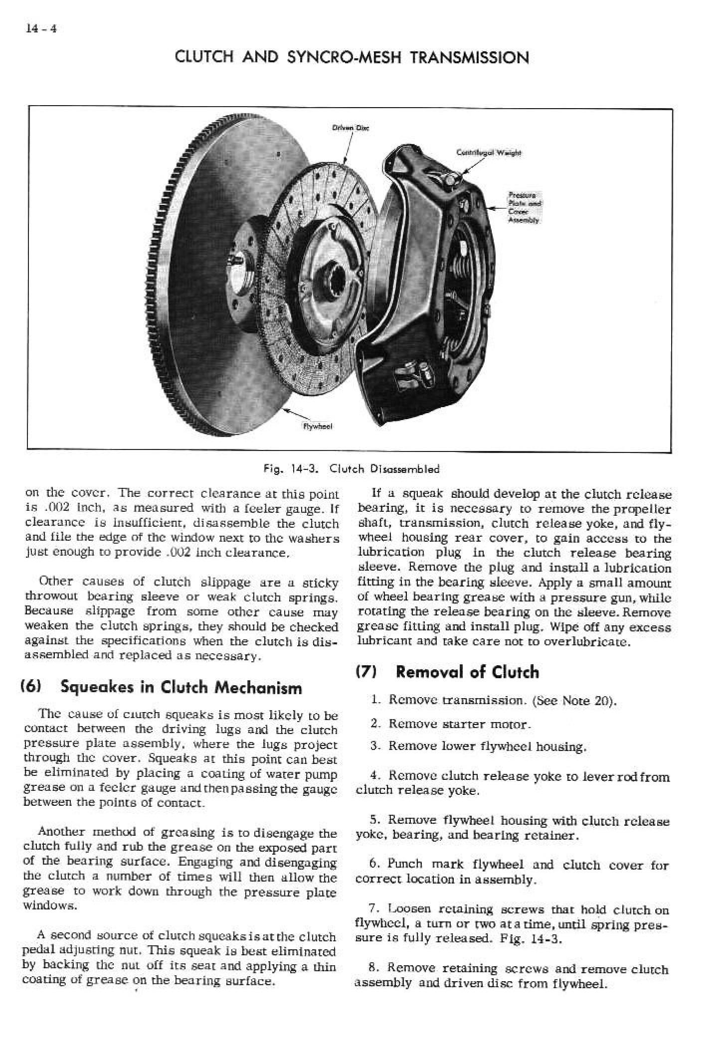1952 Cadillac Shop Manual- Manual Transmission Page 4 of 13