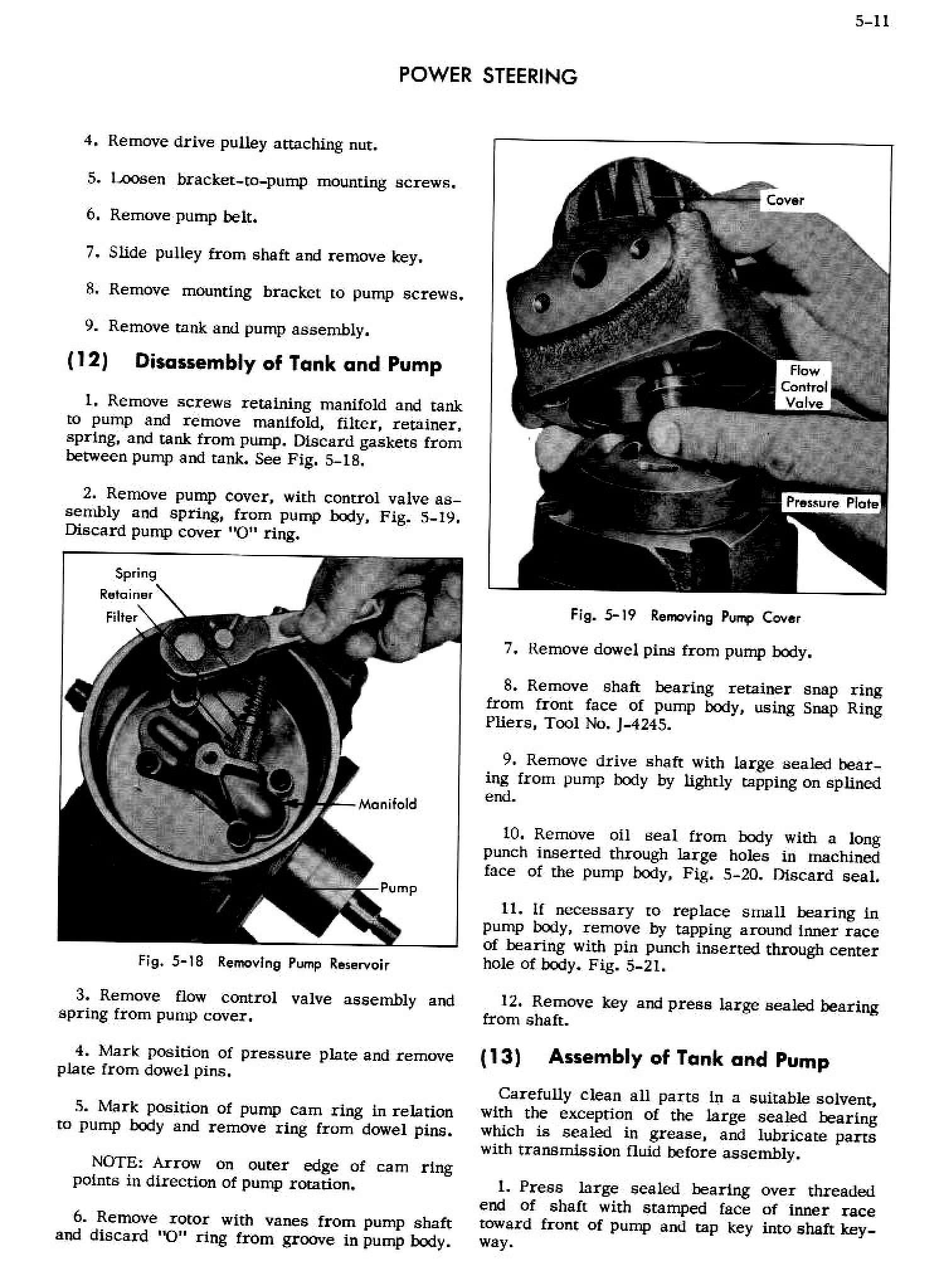 Cadillac Shop Manual Power Steering Page 11 Of 26
