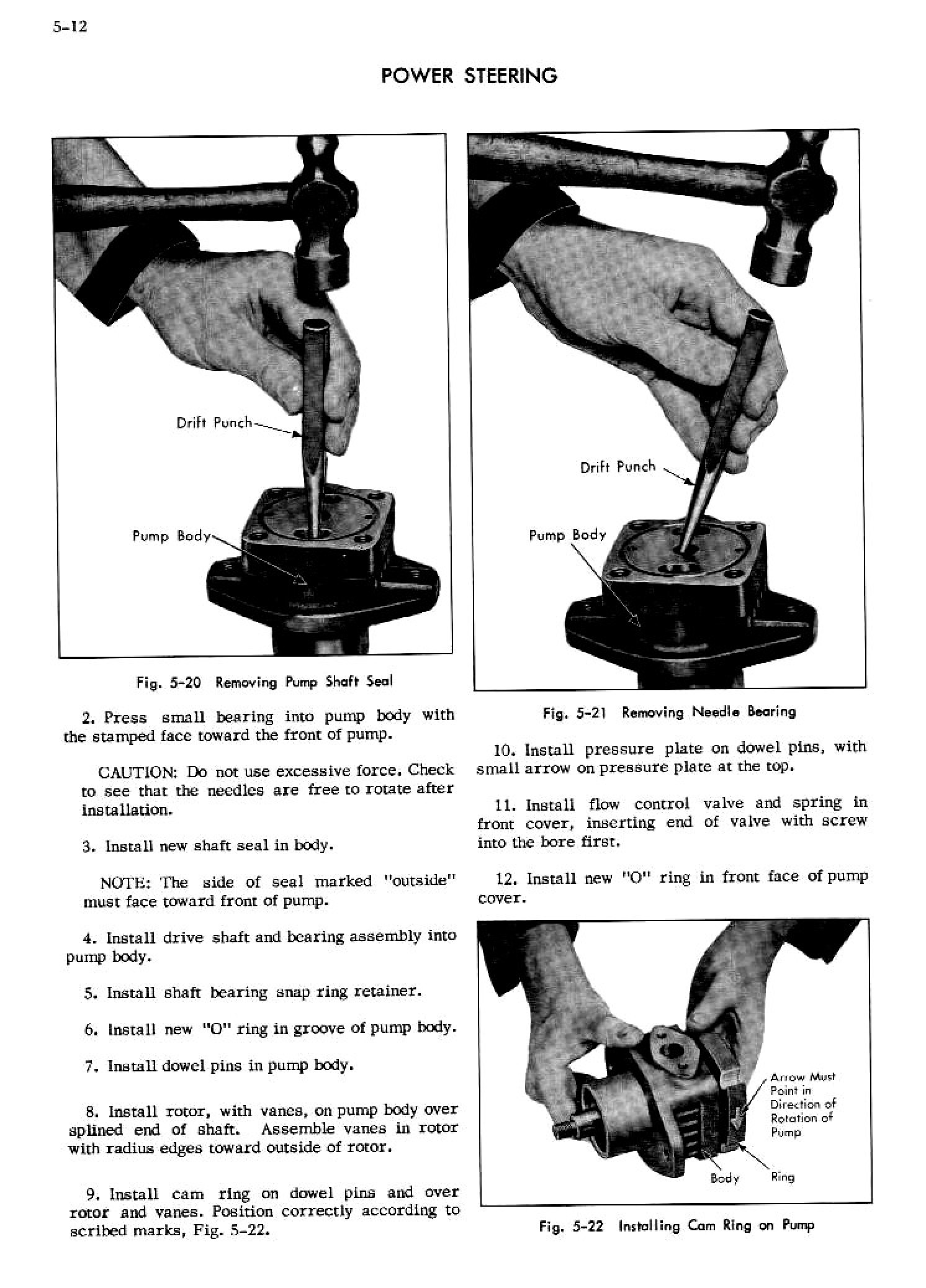 1956 Cadillac Shop Manual- Power Steering Page 12 of 26