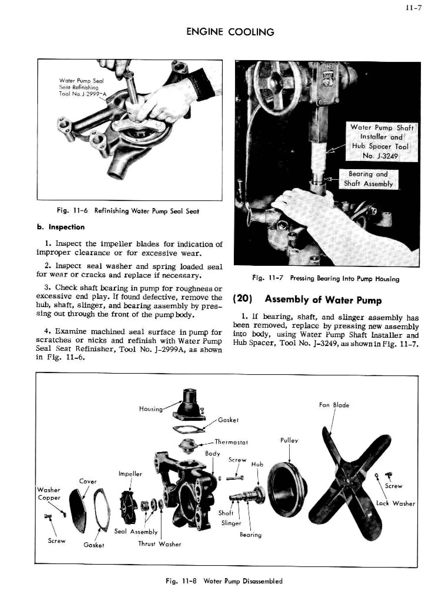1956 Cadillac Shop Manual- Engine Cooling Page 7 of 9