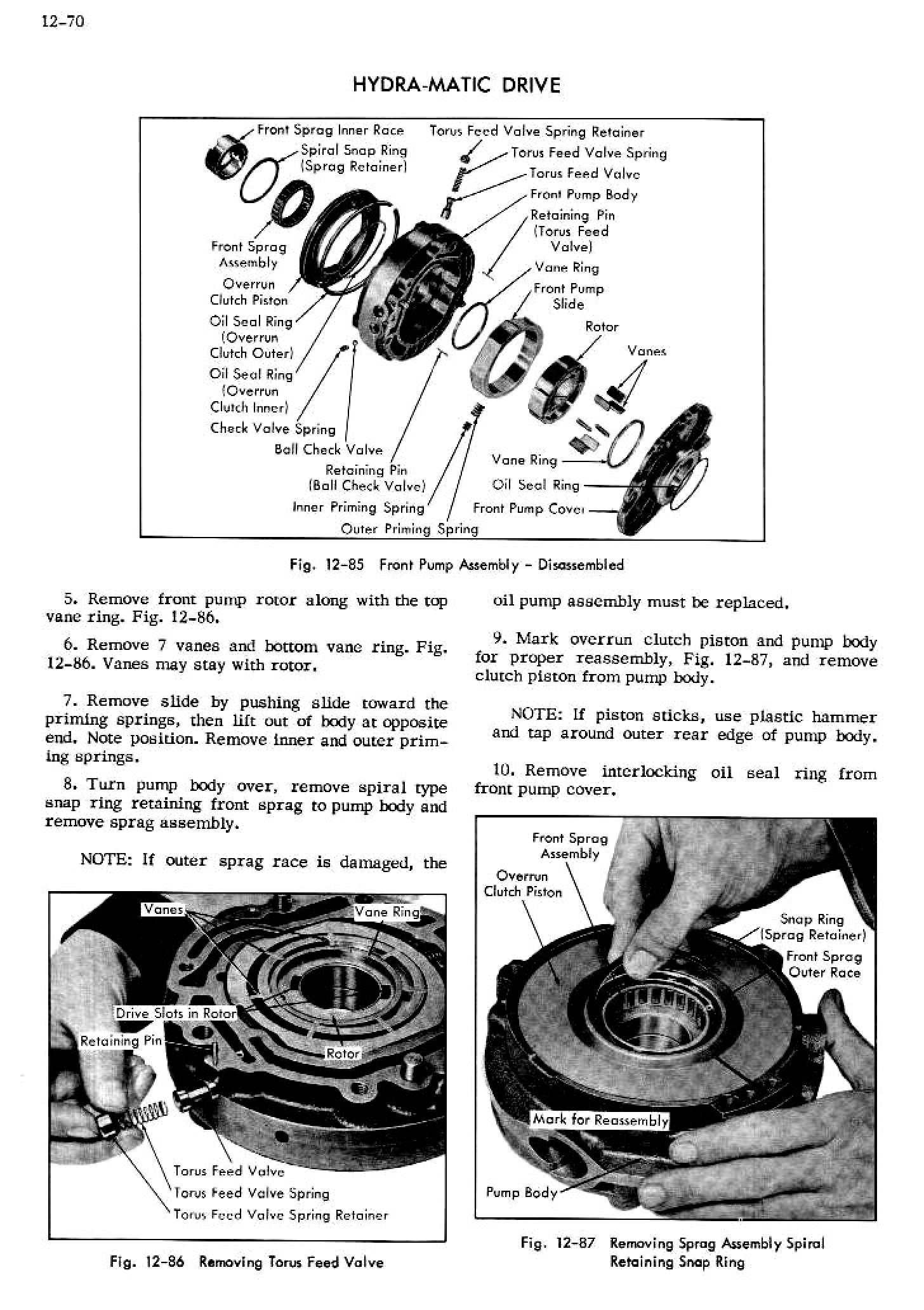 1956 Cadillac Shop Manual- Hydra-Matic Page 70 of 94