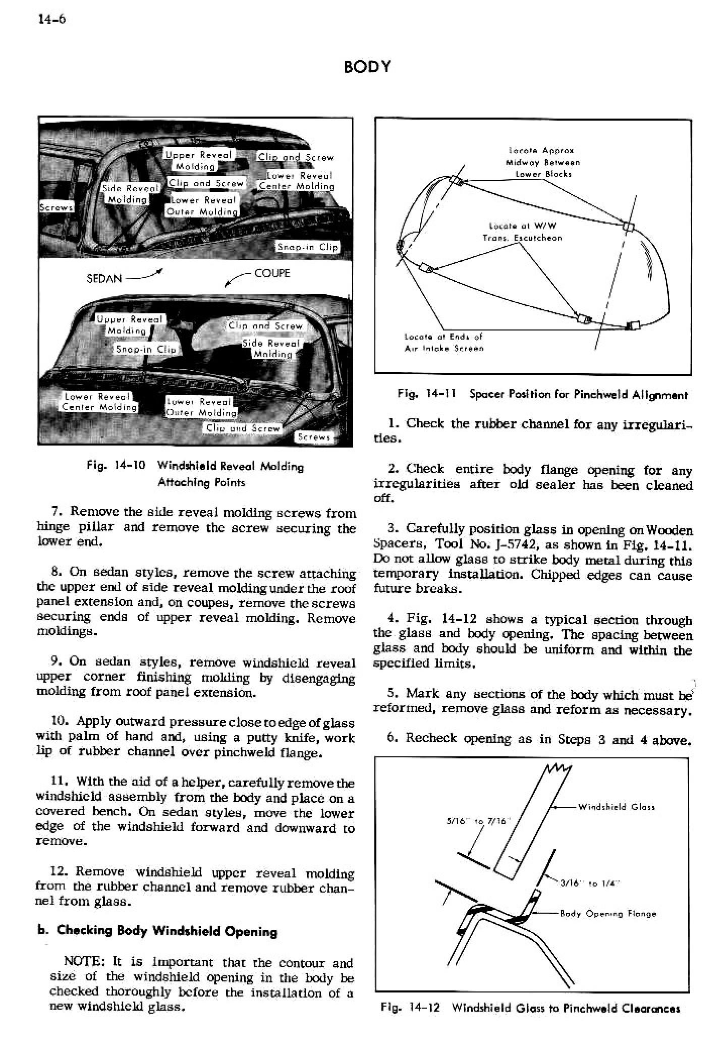 1956 Cadillac Shop Manual- Body Page 6 of 87