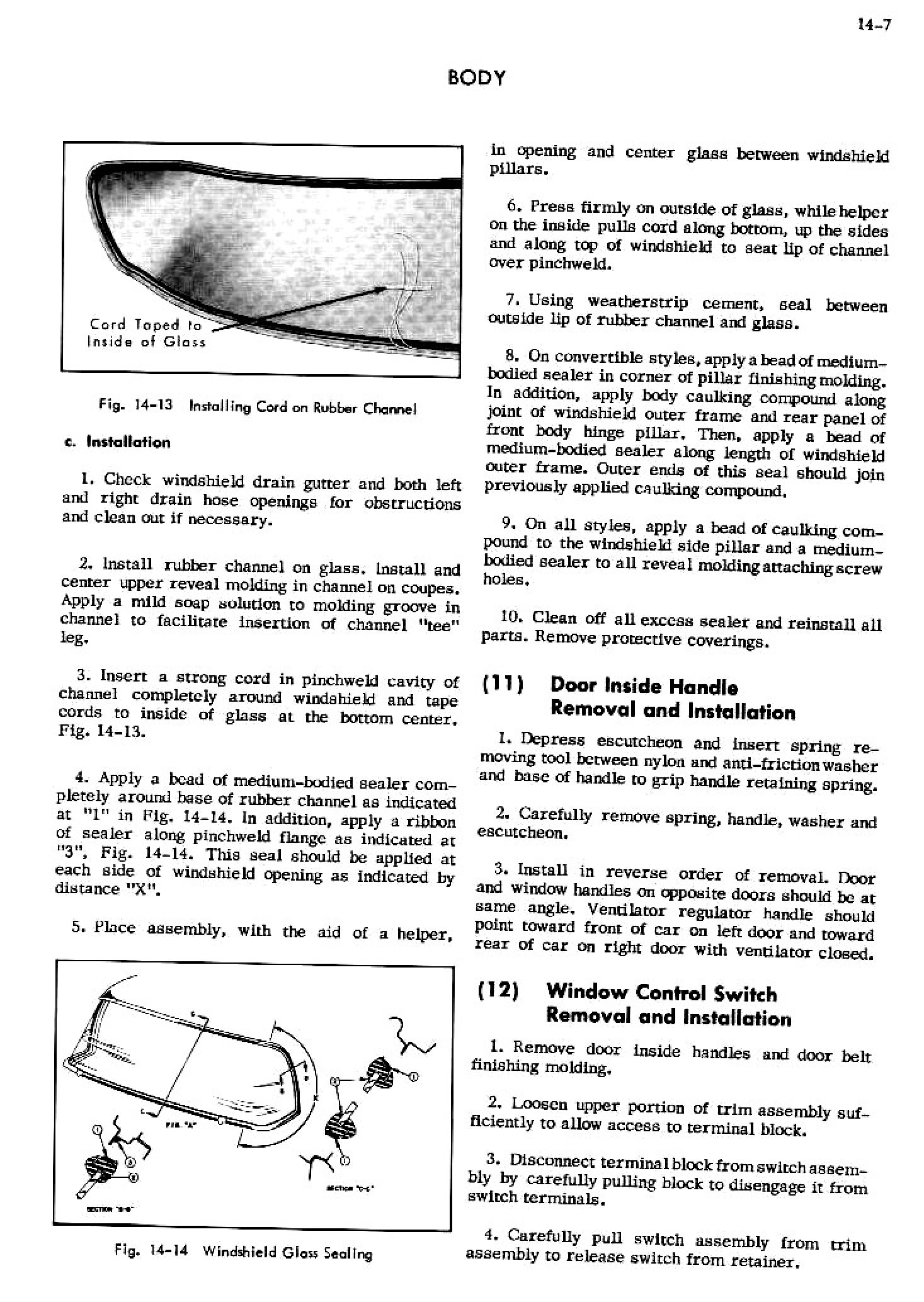 1956 Cadillac Shop Manual- Body Page 7 of 87
