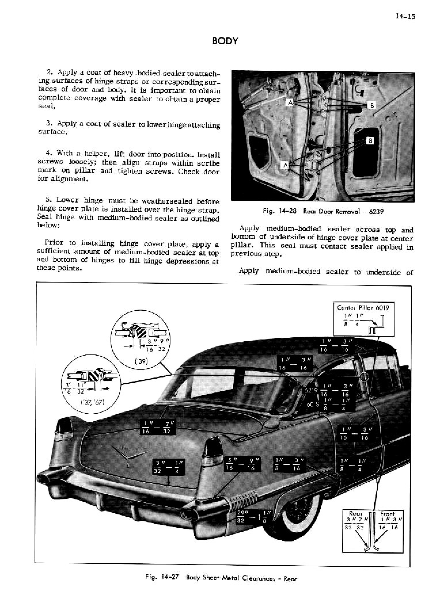 1956 Cadillac Shop Manual- Body Page 15 of 87
