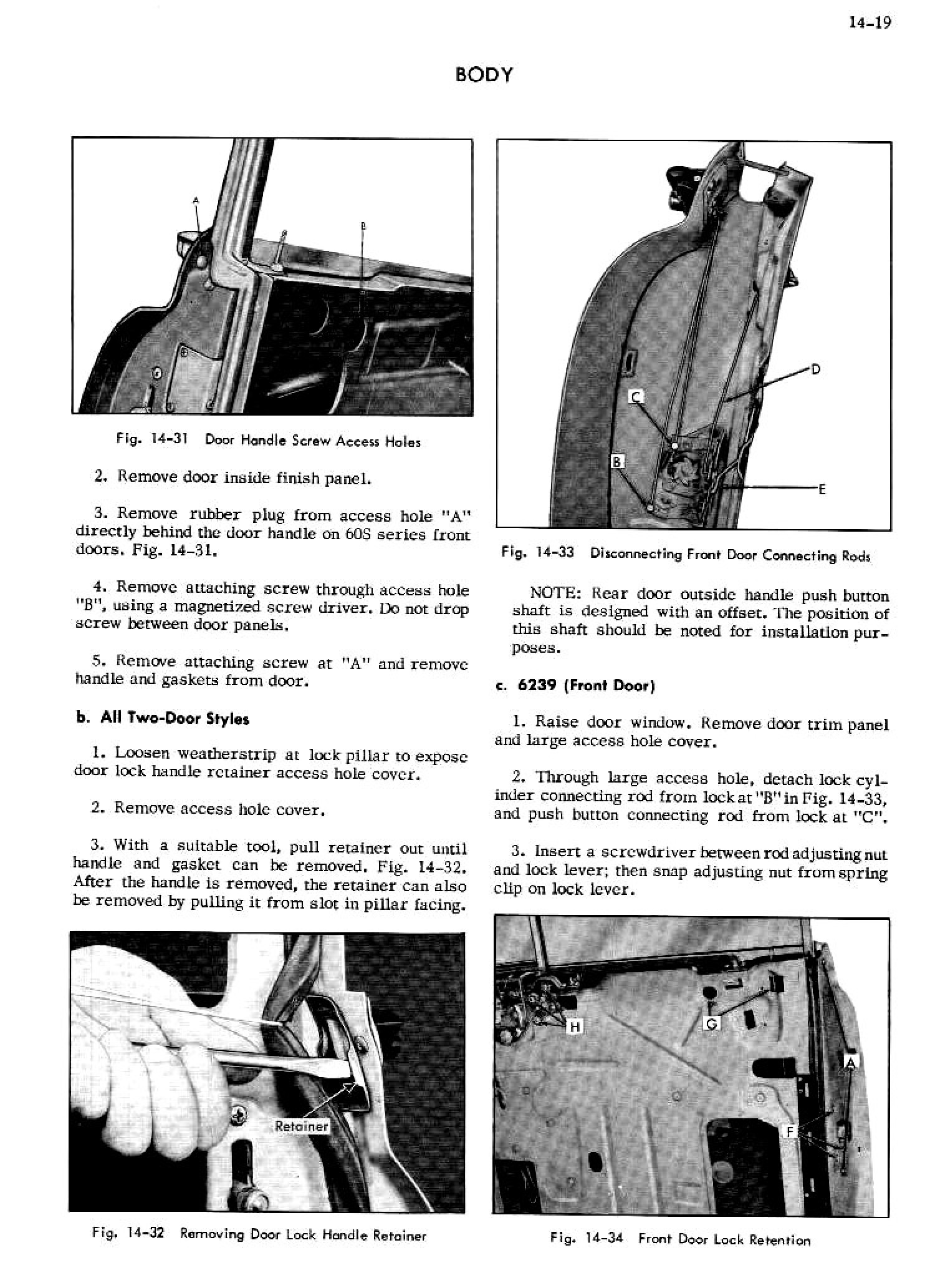 1956 Cadillac Shop Manual- Body Page 19 of 87