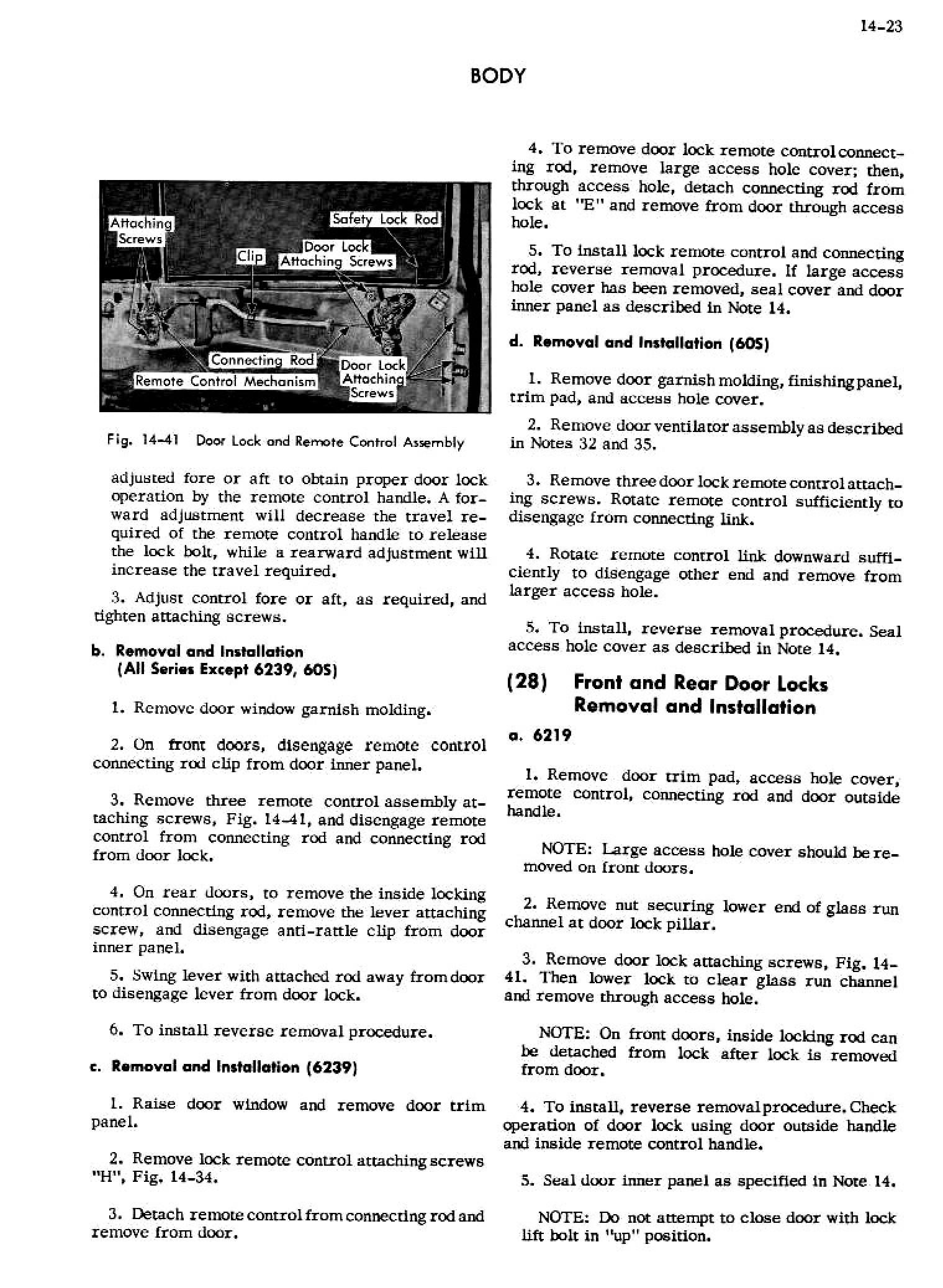 1956 Cadillac Shop Manual- Body Page 23 of 87