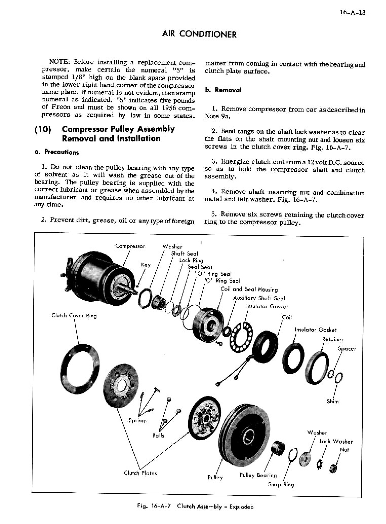 1956 Cadillac Shop Manual- Accessories Page 13 of 45