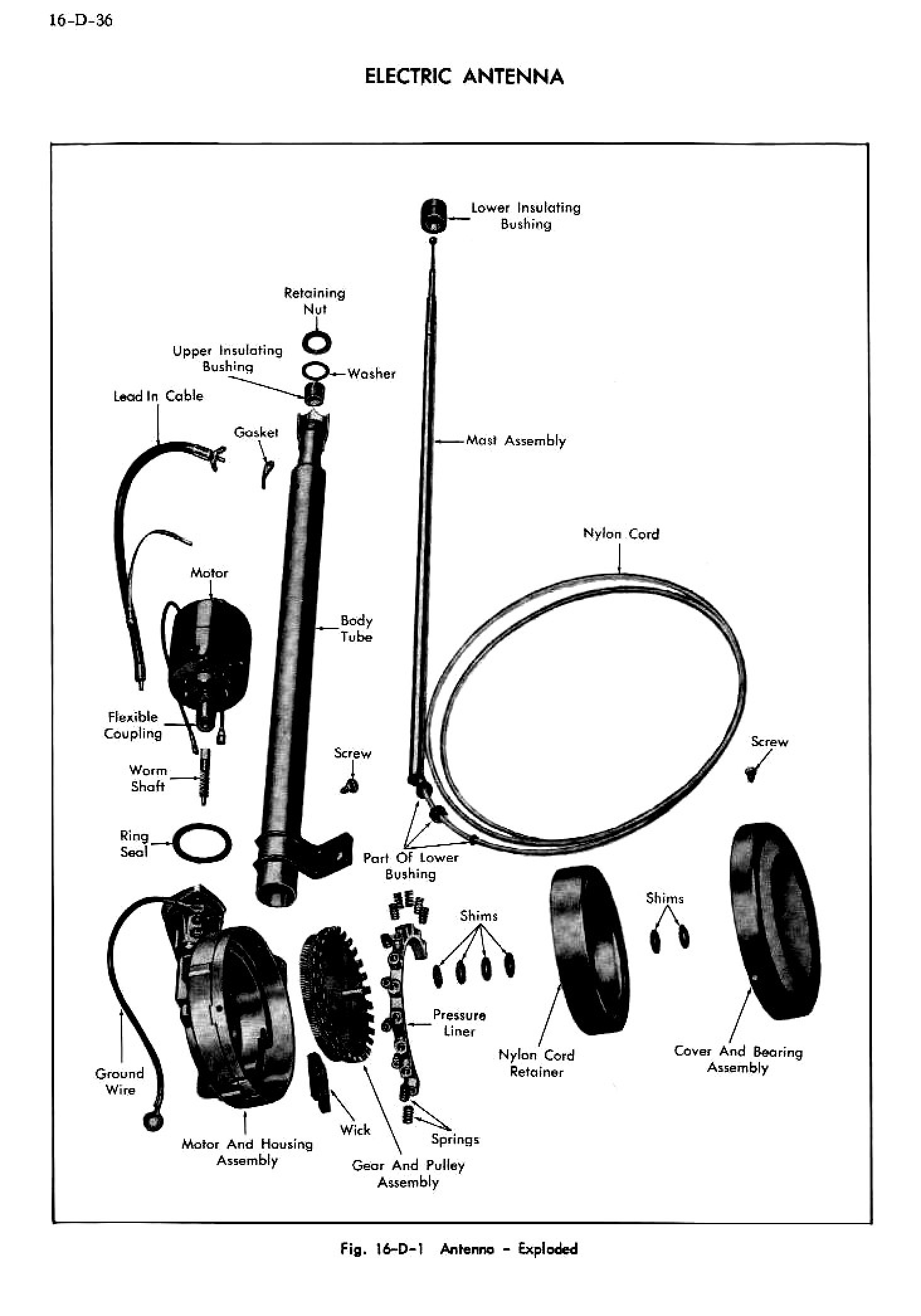 1956 Cadillac Shop Manual- Accessories Page 36 of 45