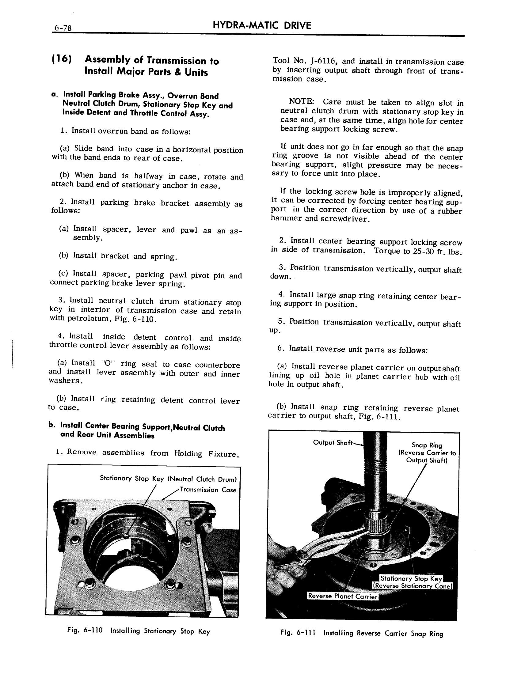 1957 Cadillac Shop Manual- Hydra-Matic Page 78 of 84