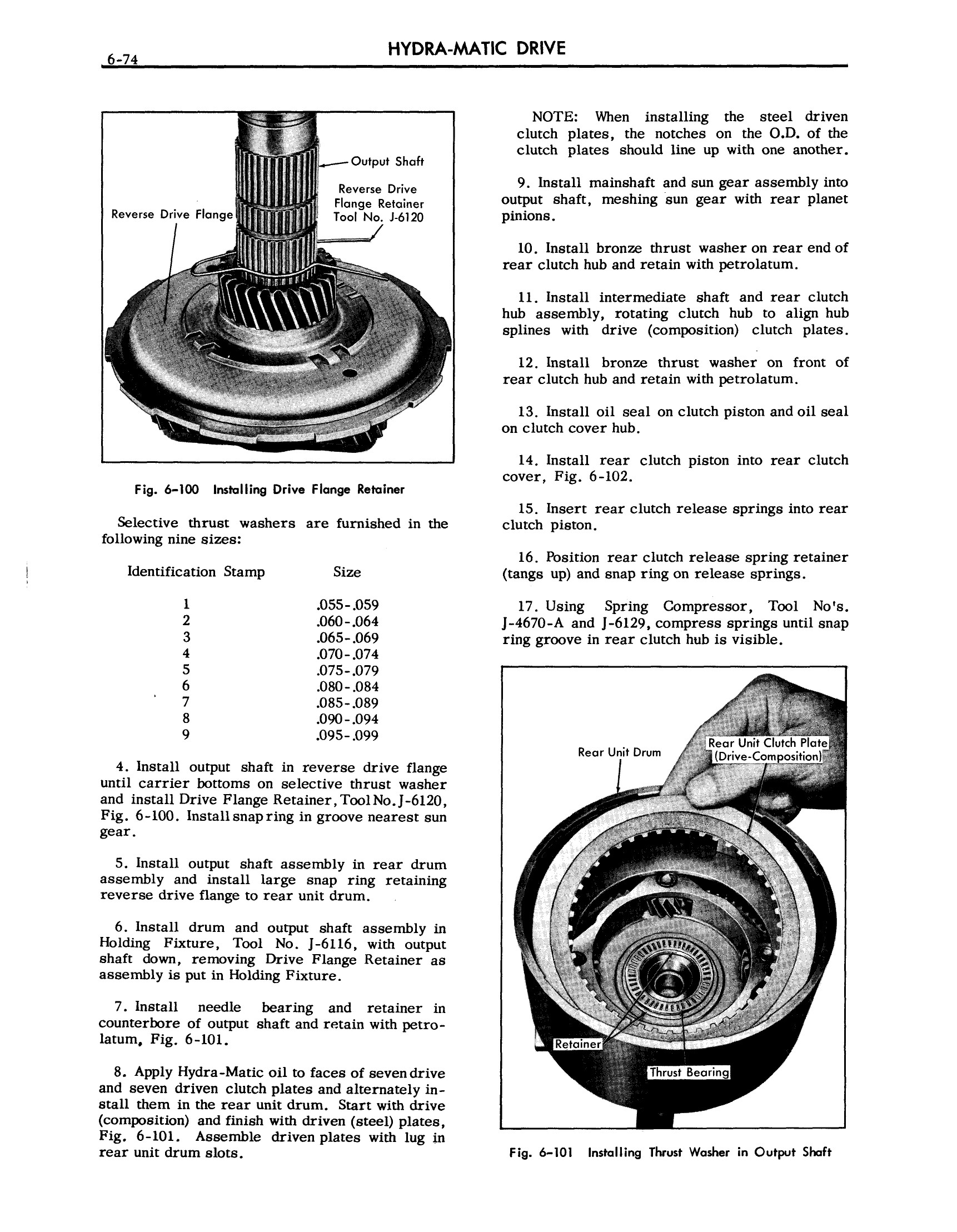 1957 Cadillac Shop Manual- Hydra-Matic Page 74 of 84