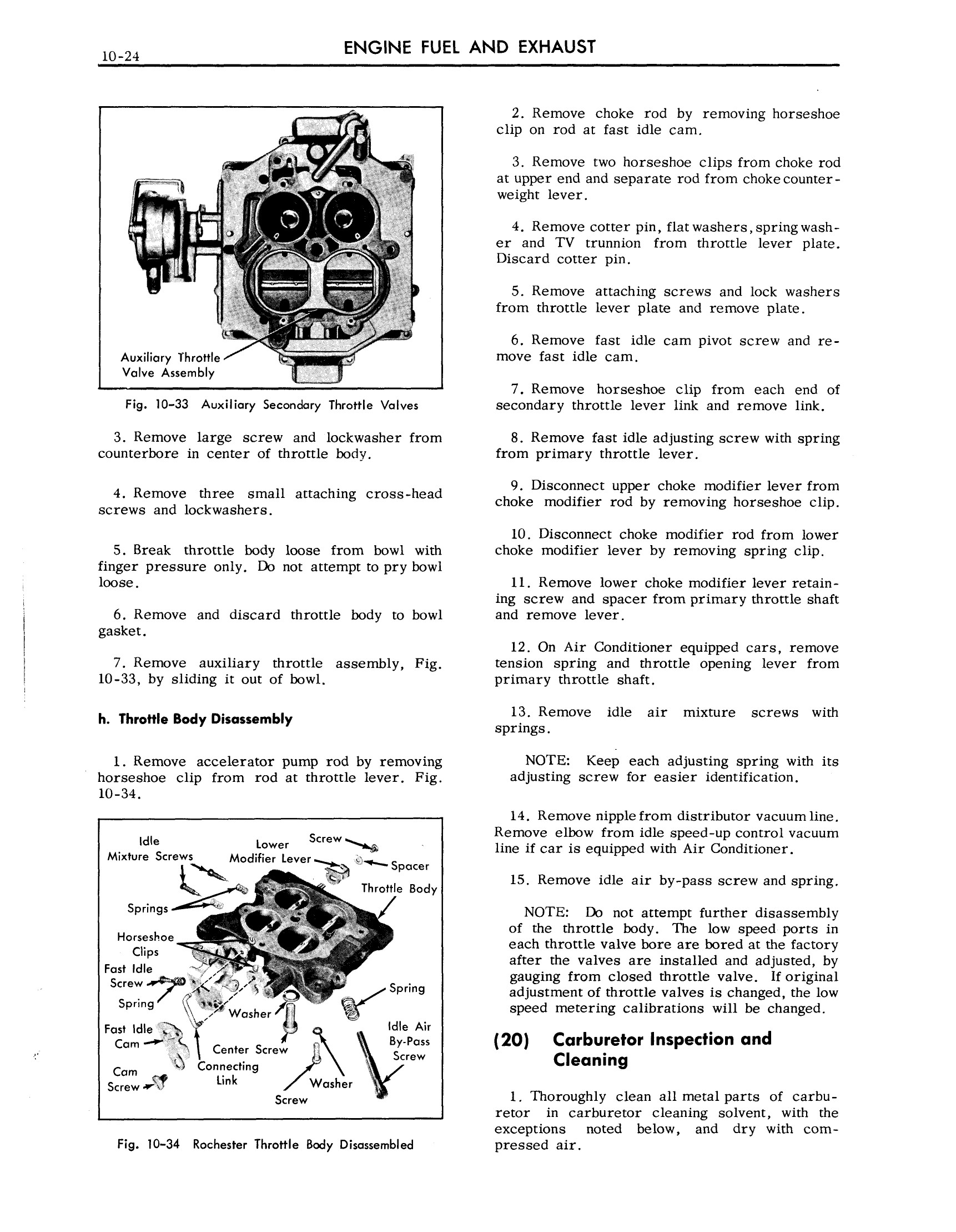 1957 Cadillac Shop Manual- Engine Fuel and Exhaust Page 24