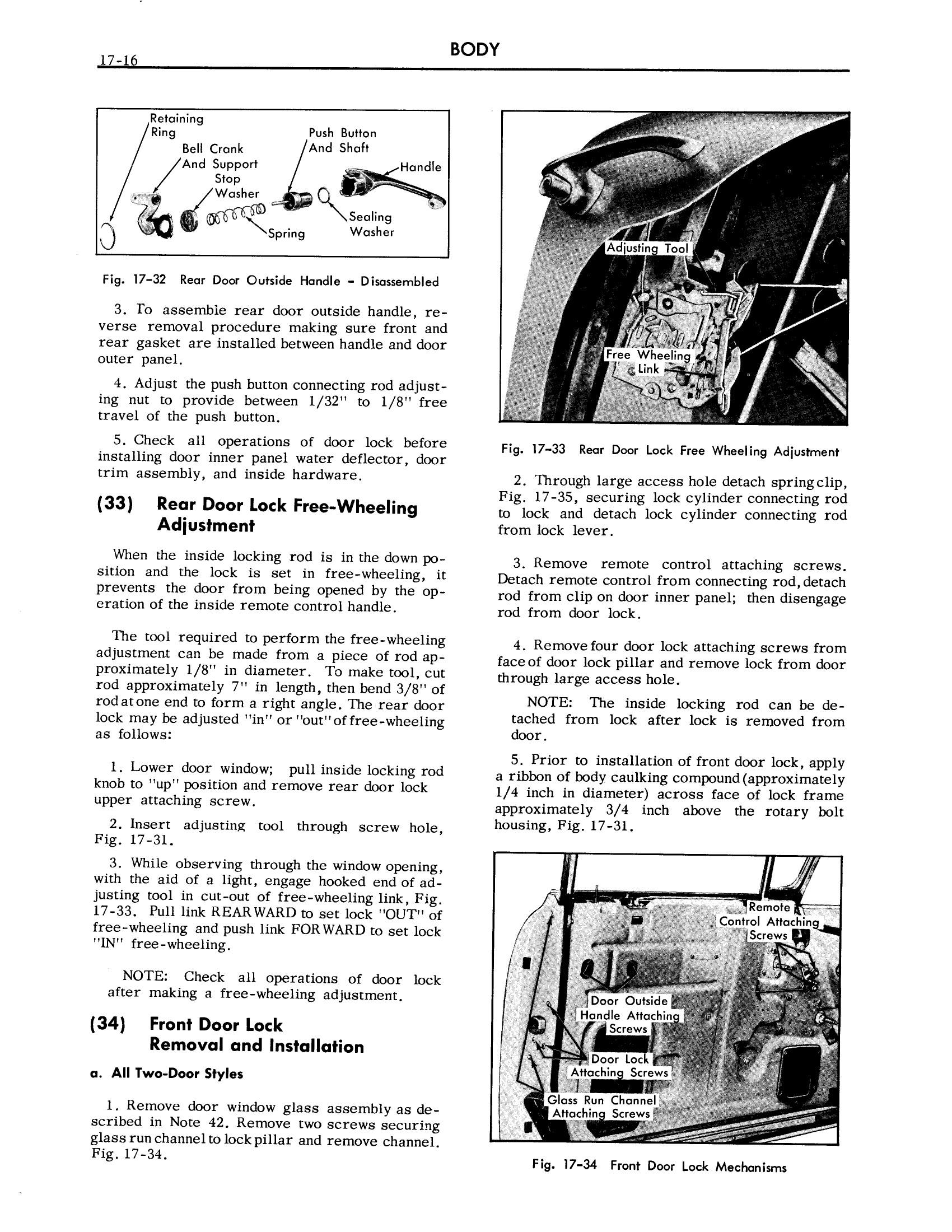 1957 Cadillac Shop Manual- Body Page 16 of 76