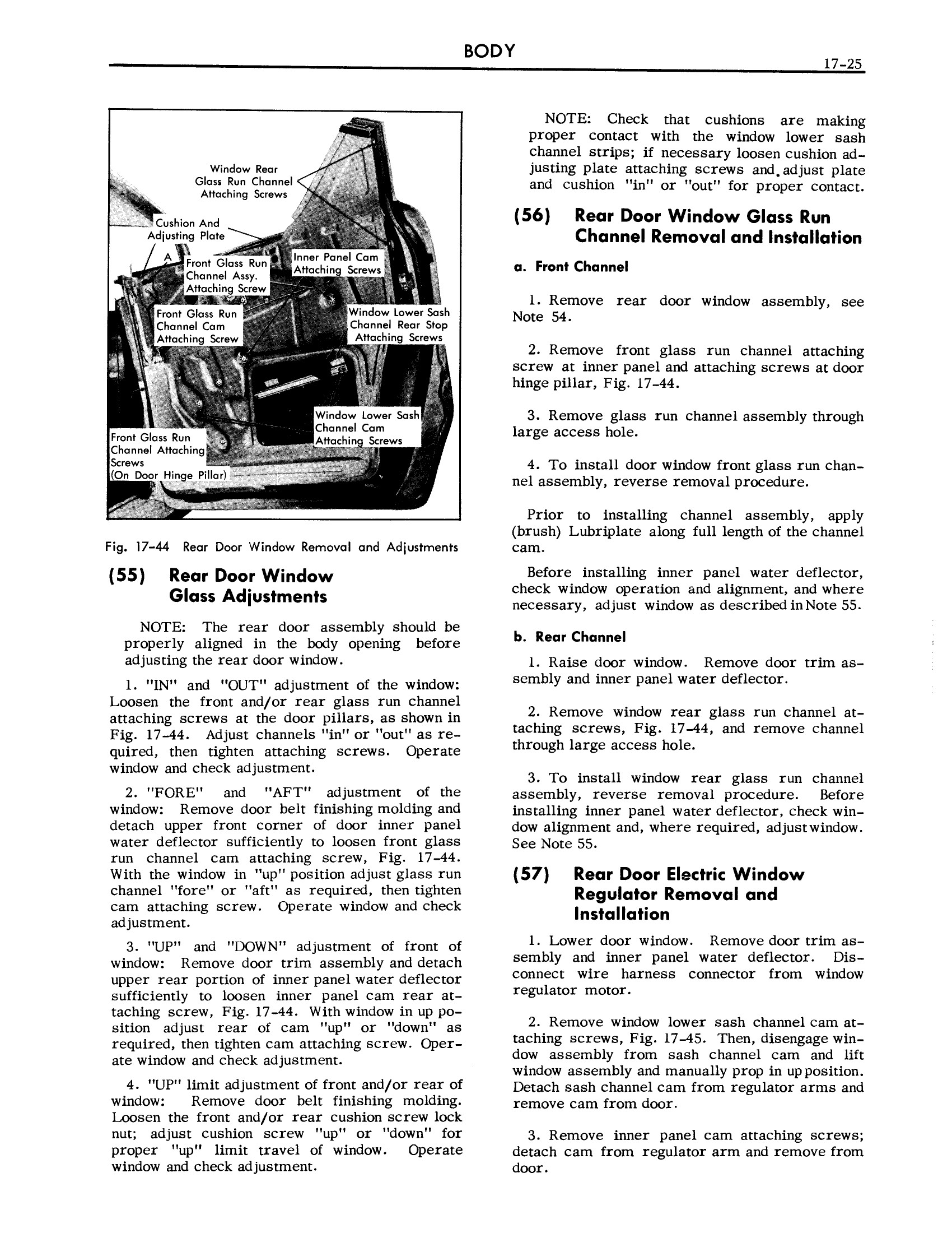 1957 Cadillac Shop Manual- Body Page 25 of 76