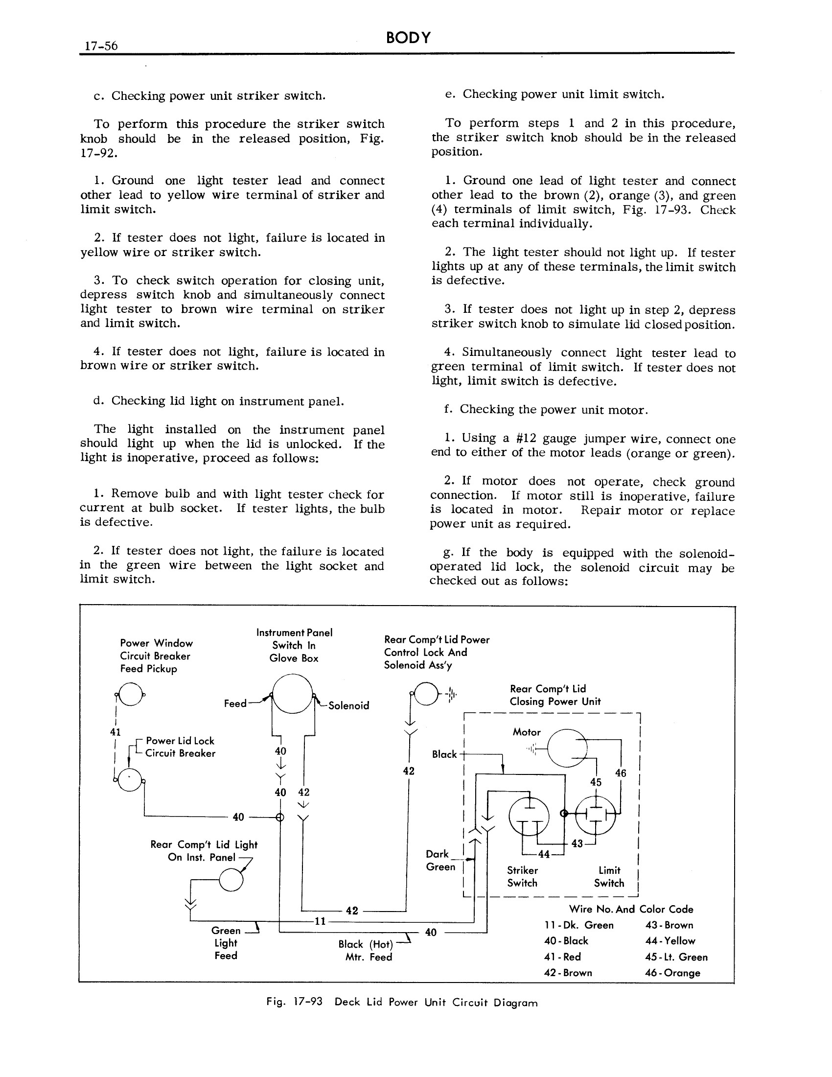 1957 Cadillac Shop Manual- Body Page 56 of 76