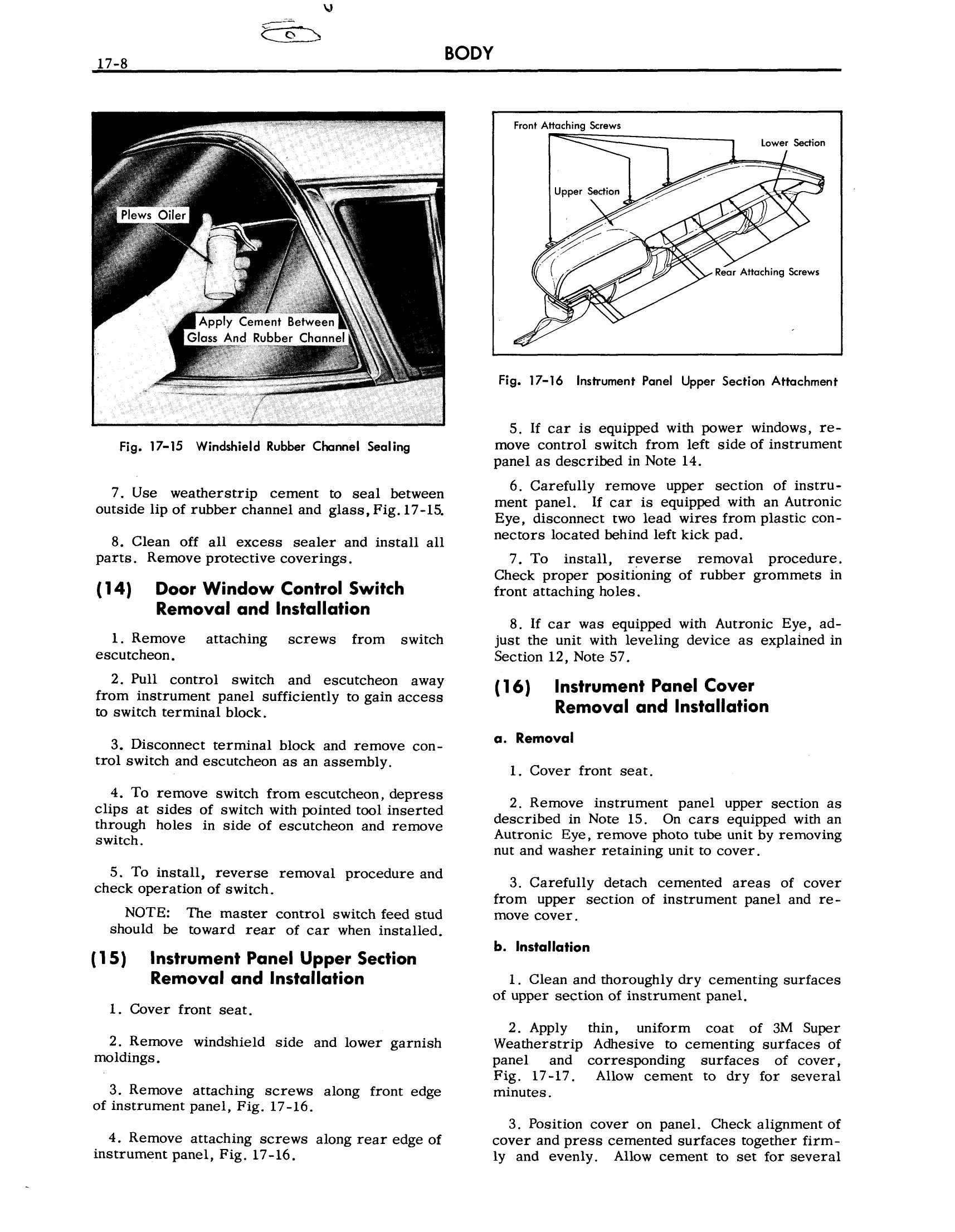 1957 Cadillac Shop Manual- Body Page 8 of 76