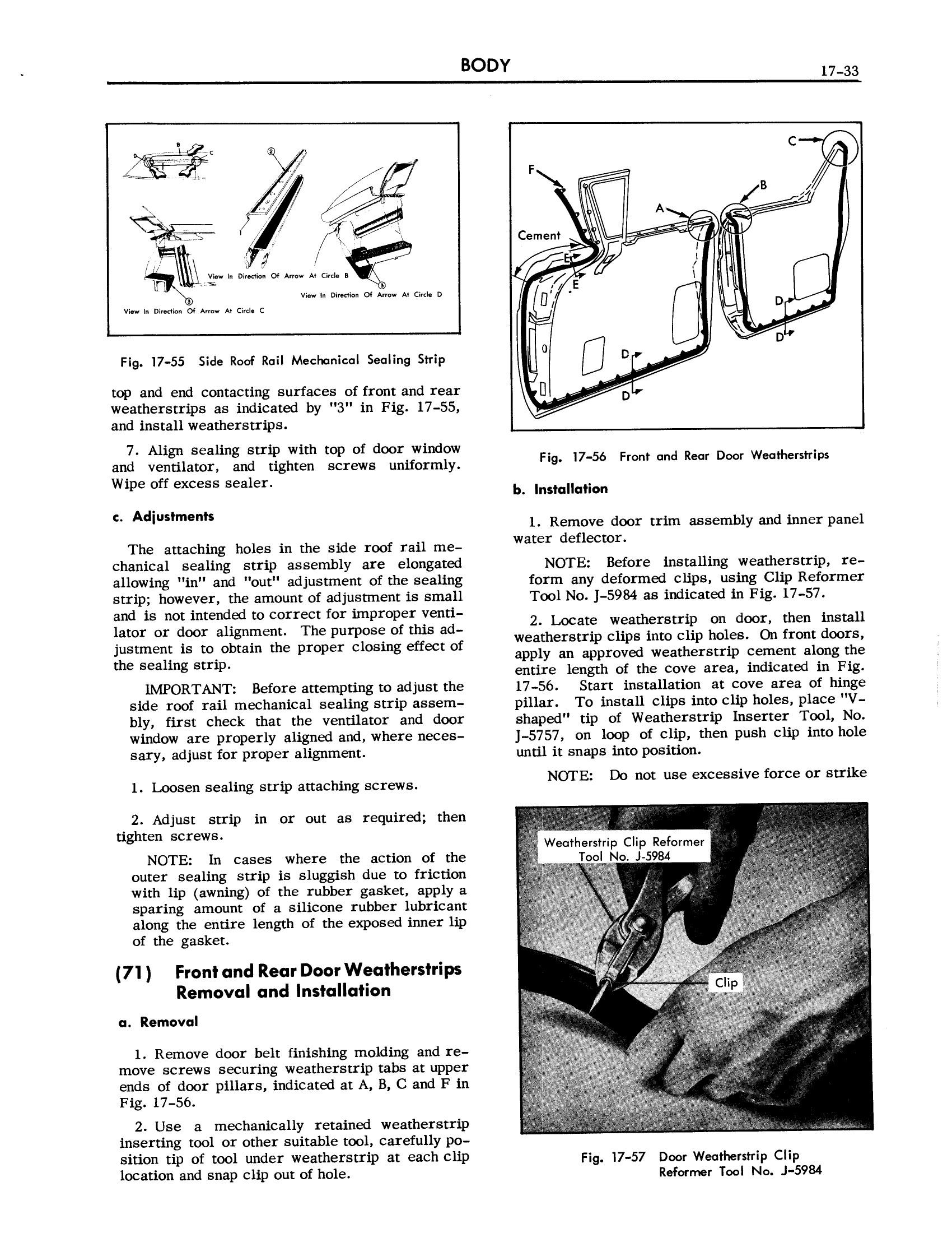 1957 Cadillac Shop Manual- Body Page 33 of 76