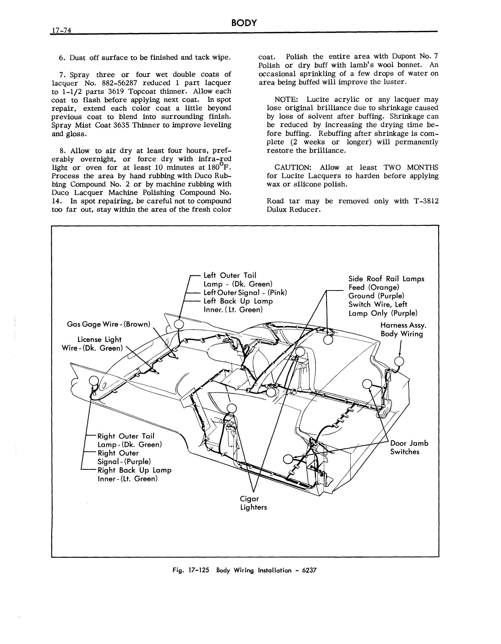 1957 Cadillac Shop Manual- Body Page 74 of 76