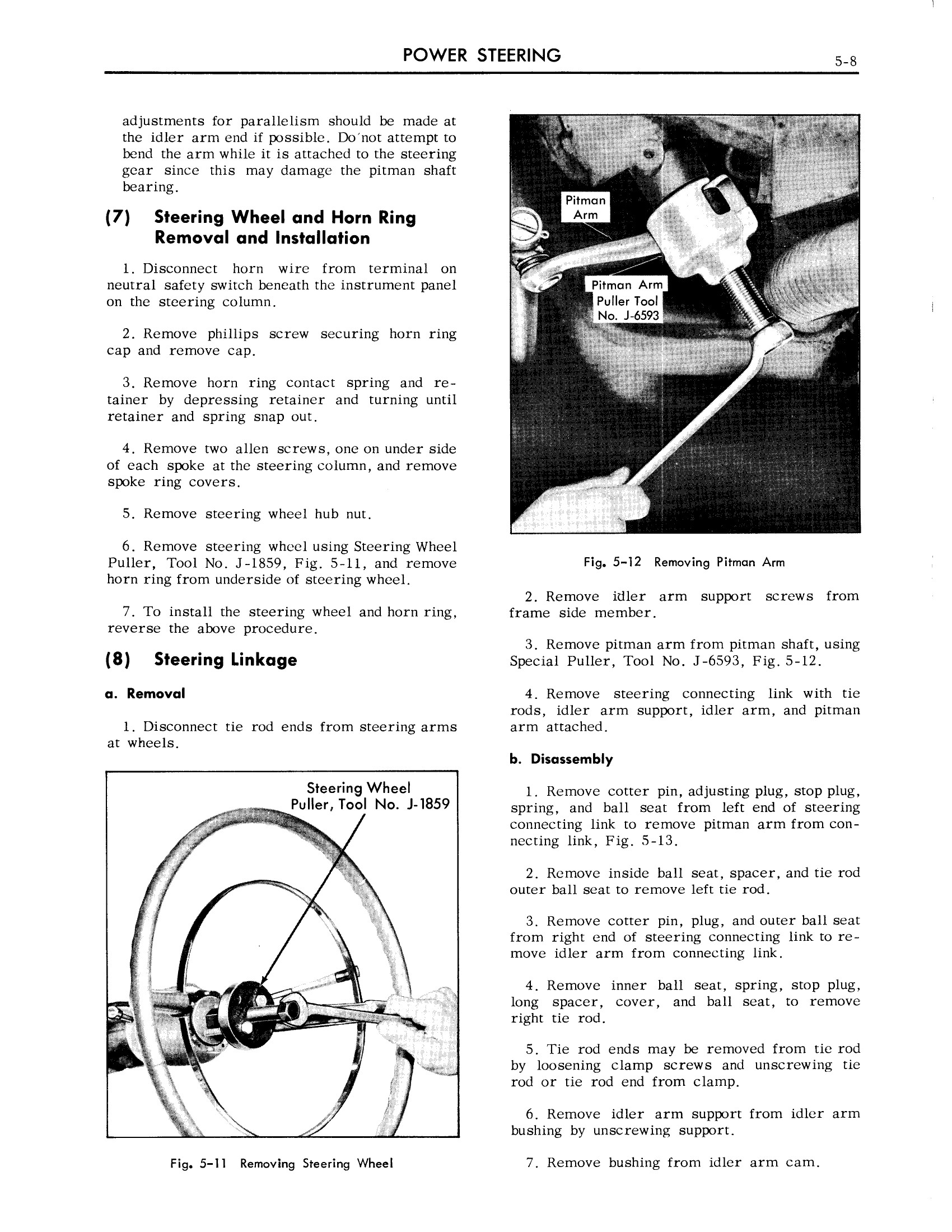 1959 Cadillac Shop Manual- Power Steering Page 8 of 31