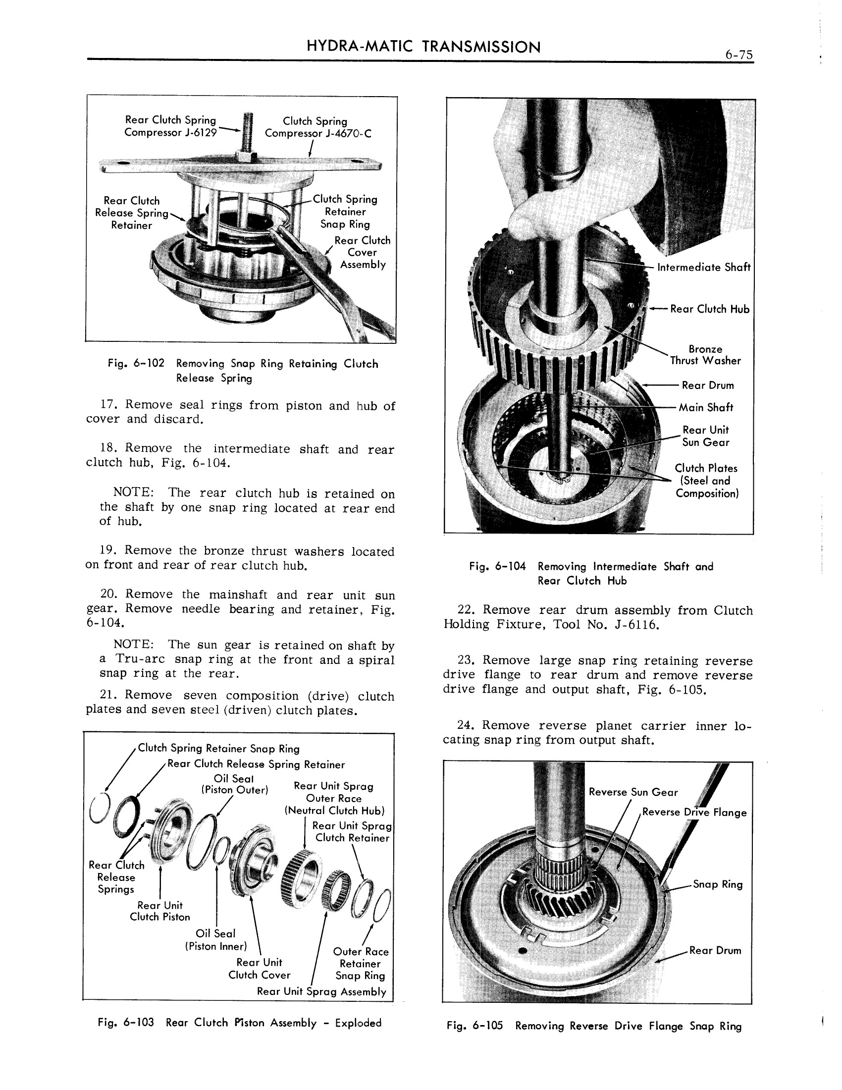 1959 Cadillac Shop Manual- Hydra-Matic Page 75 of 89