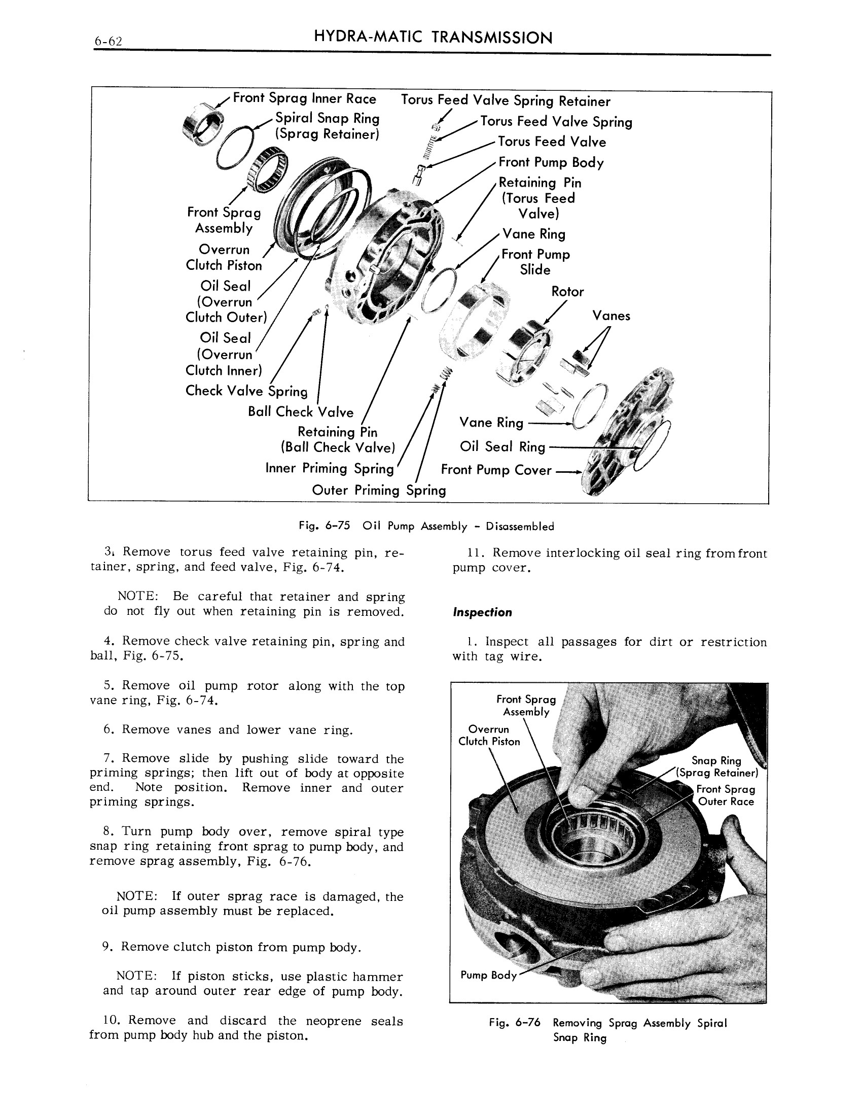 1959 Cadillac Shop Manual- Hydra-Matic Page 62 of 89