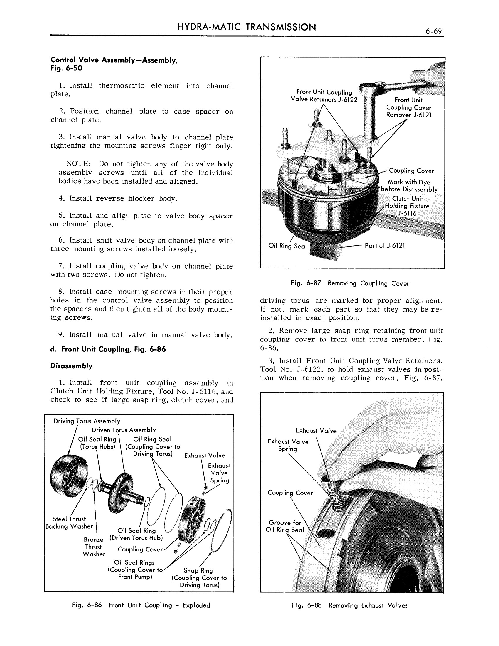 1959 Cadillac Shop Manual- Hydra-Matic Page 69 of 89