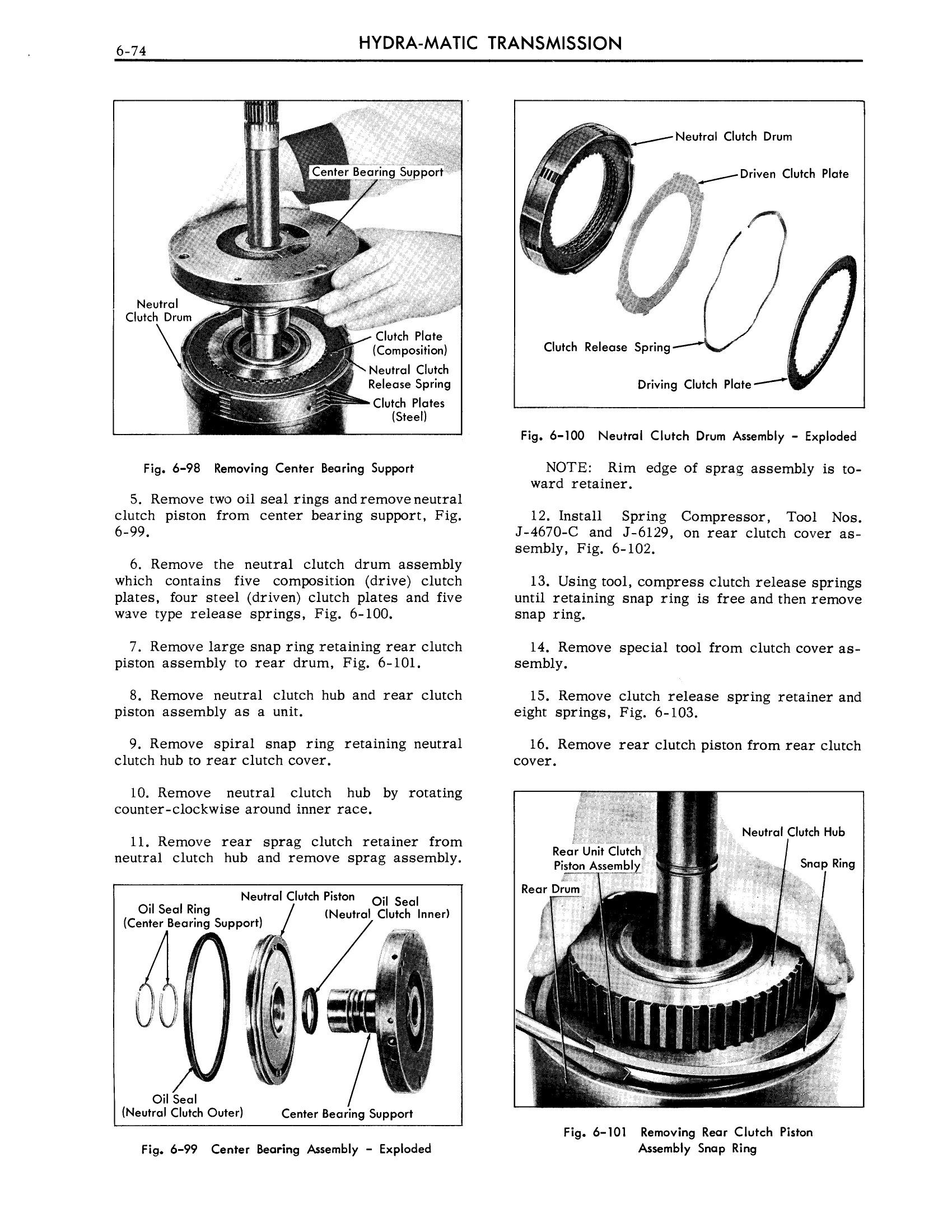 1959 Cadillac Shop Manual- Hydra-Matic Page 74 of 89