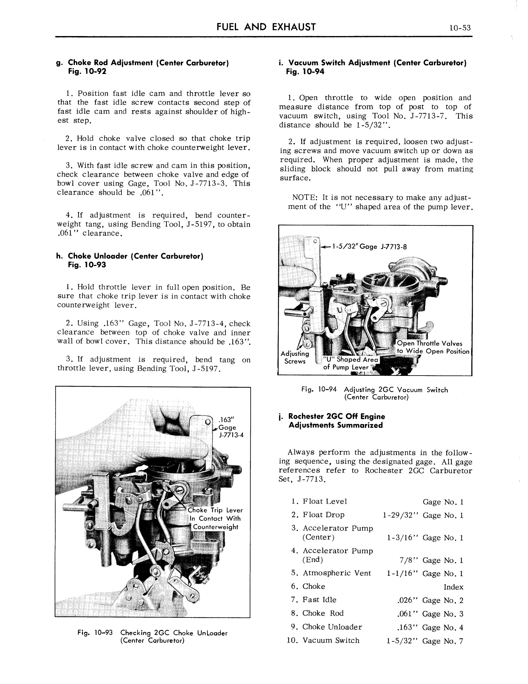 1959 Cadillac Shop Manual- Engine Fuel and Exhaust Page 53