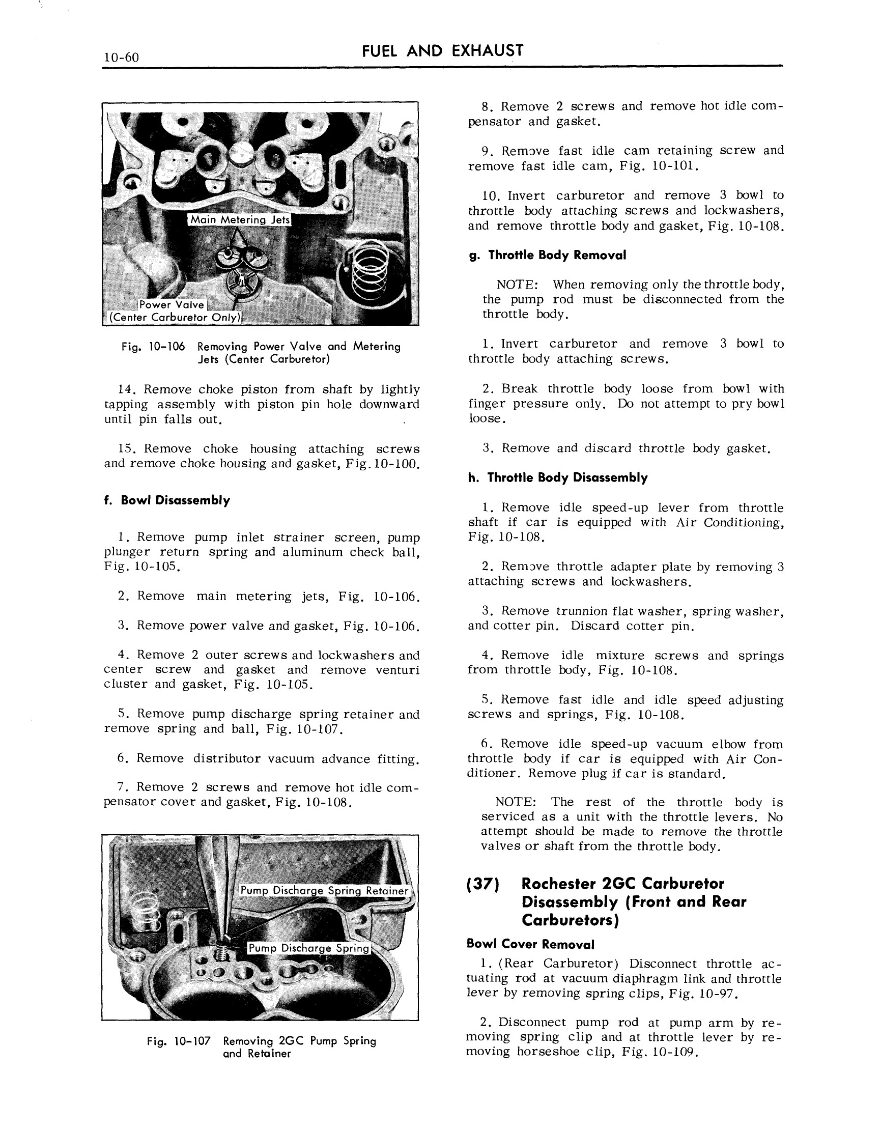 1959 Cadillac Shop Manual- Engine Fuel and Exhaust Page 60