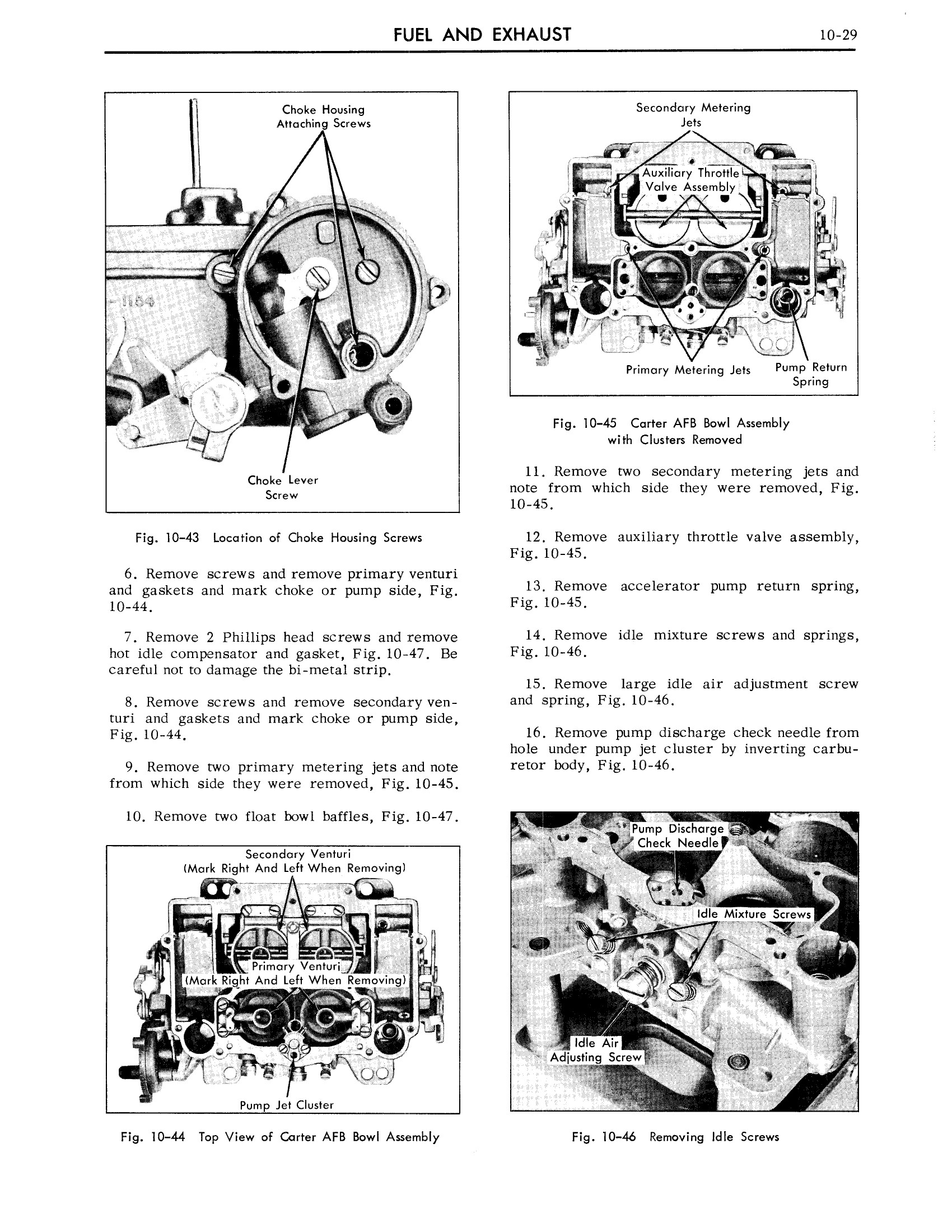 1959 Cadillac Shop Manual- Engine Fuel and Exhaust Page 29