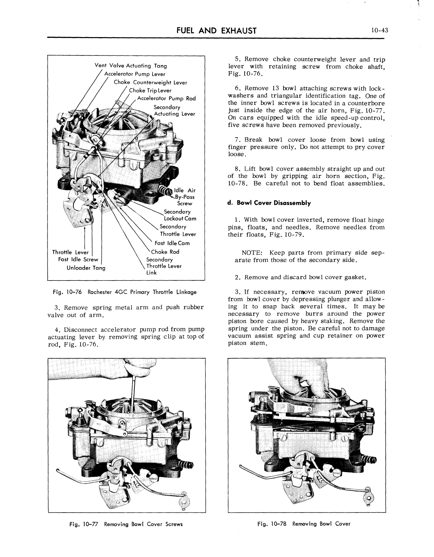 1959 Cadillac Shop Manual- Engine Fuel and Exhaust Page 43