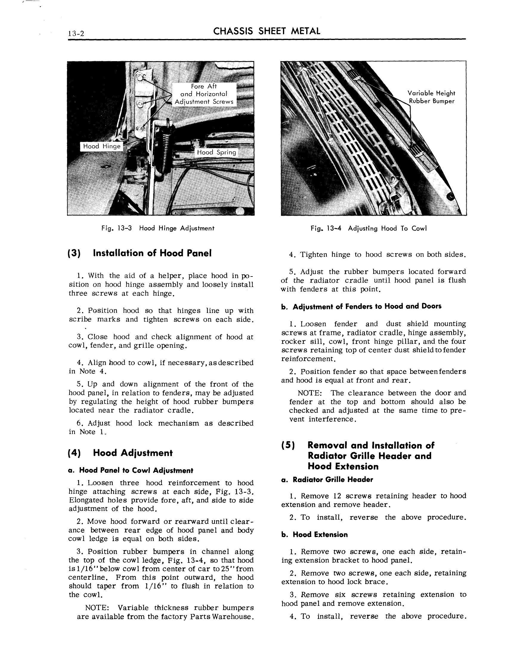 1959 Cadillac Shop Manual- Chassis Sheet Metal Page 2 of 7