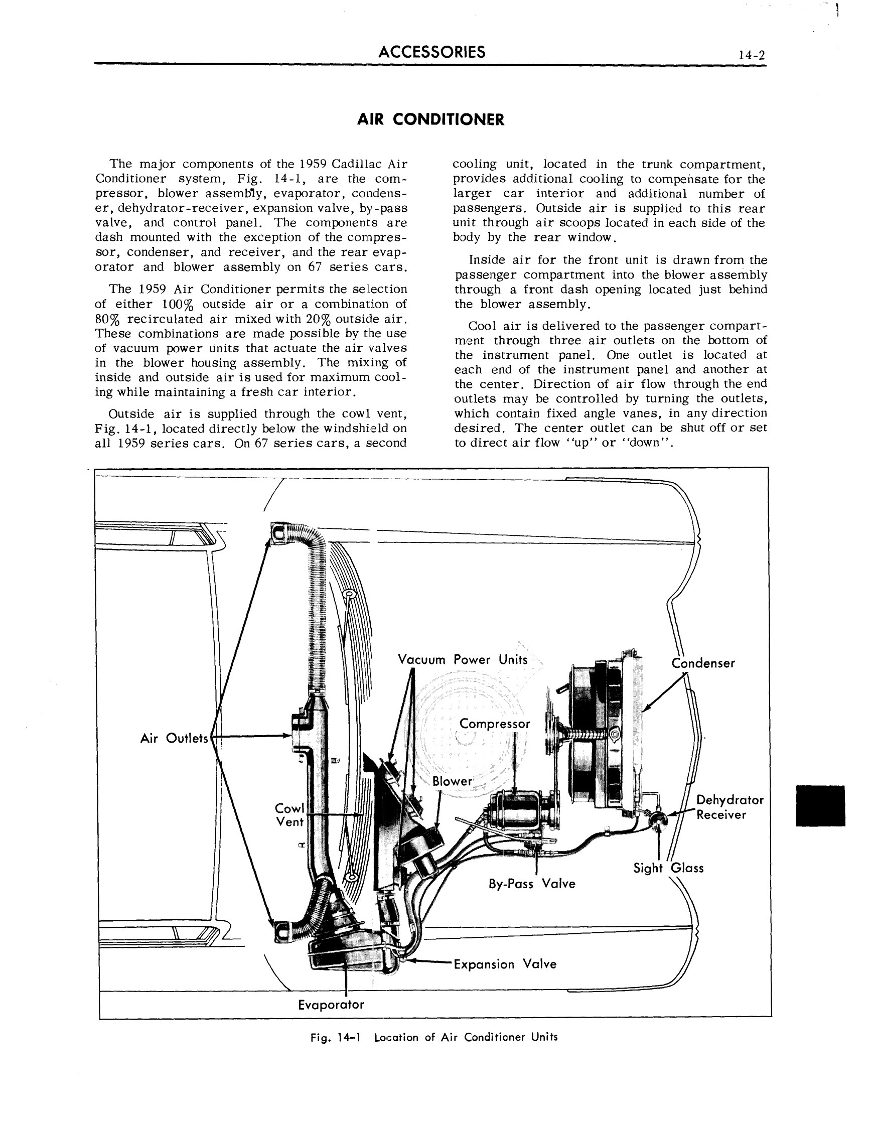 1959 Cadillac Shop Manual- Accessories Page 2 of 58