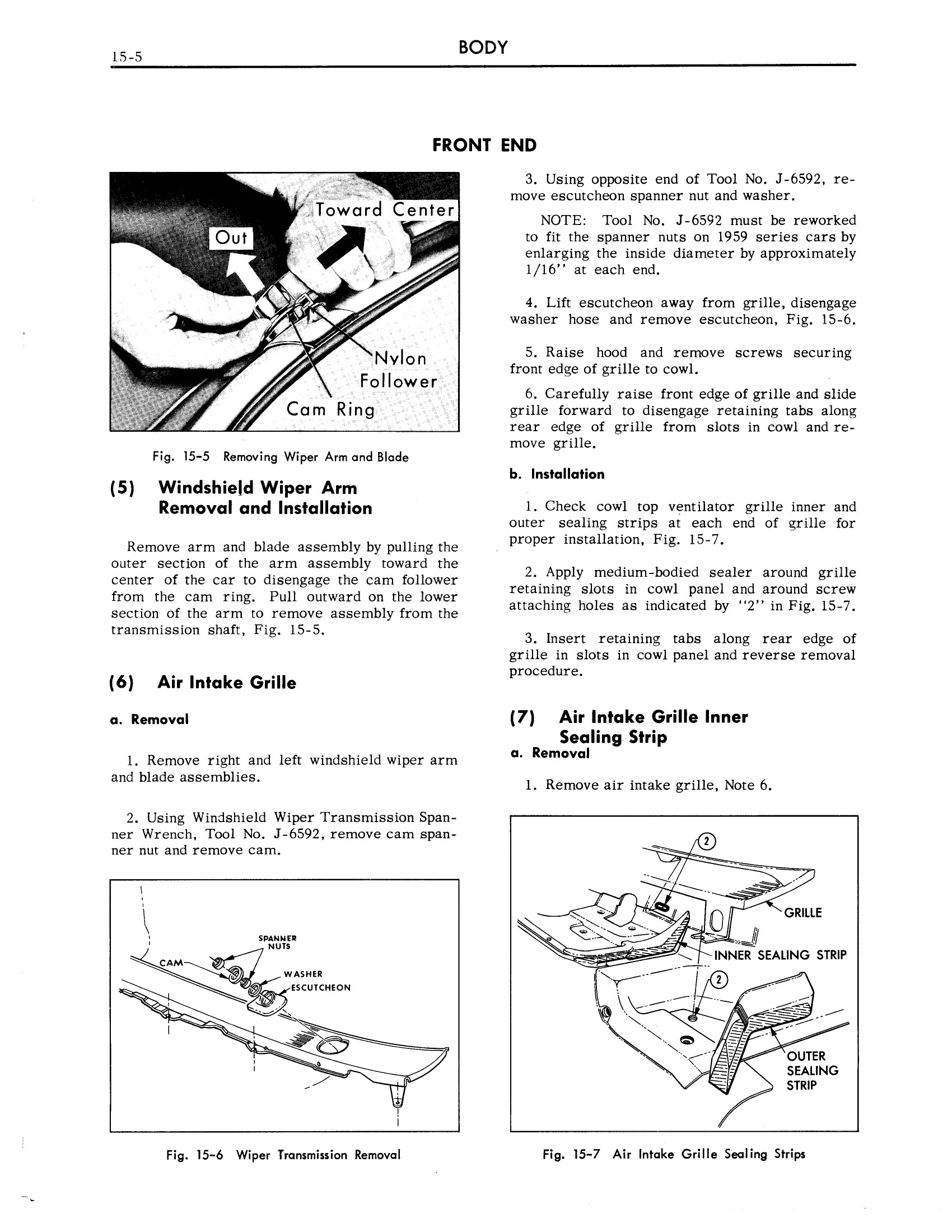 1959 Cadillac Shop Manual- Body Page 5 of 99
