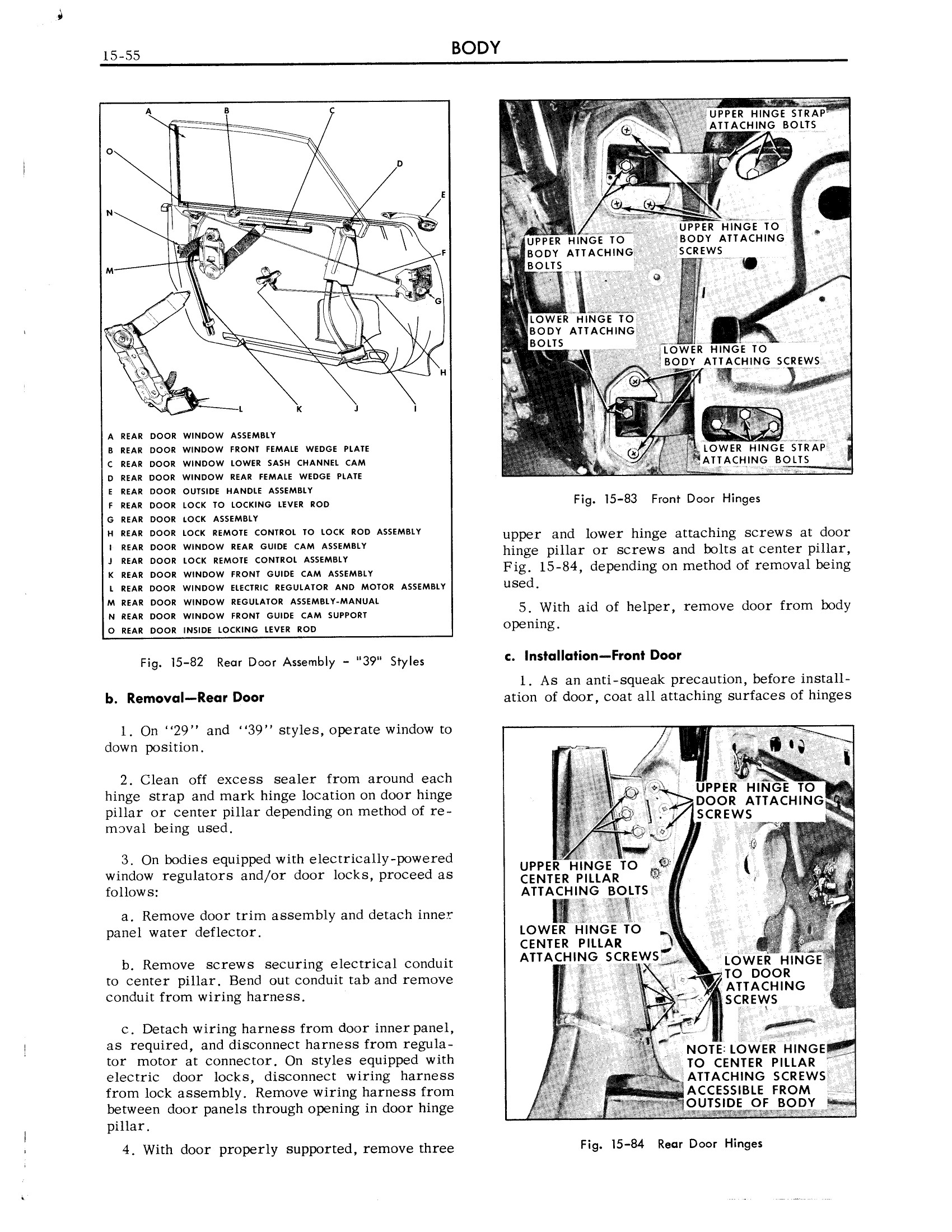 1959 Cadillac Shop Manual- Body Page 55 of 99