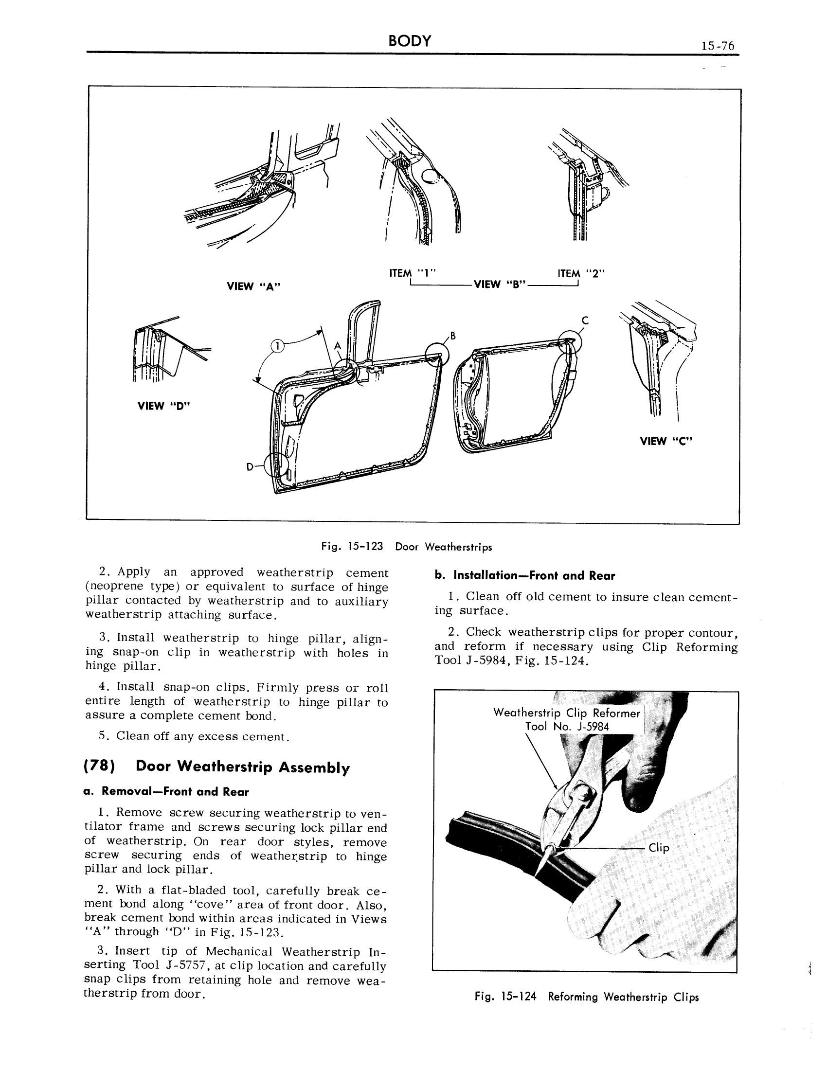 1959 Cadillac Shop Manual- Body Page 76 of 99