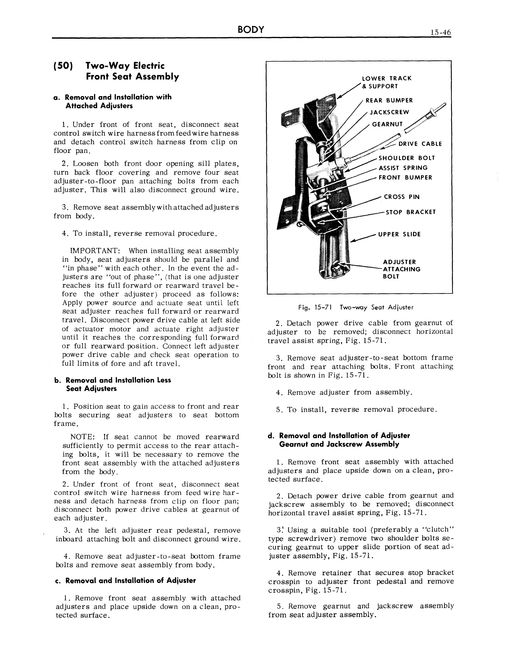1959 Cadillac Shop Manual- Body Page 46 of 99