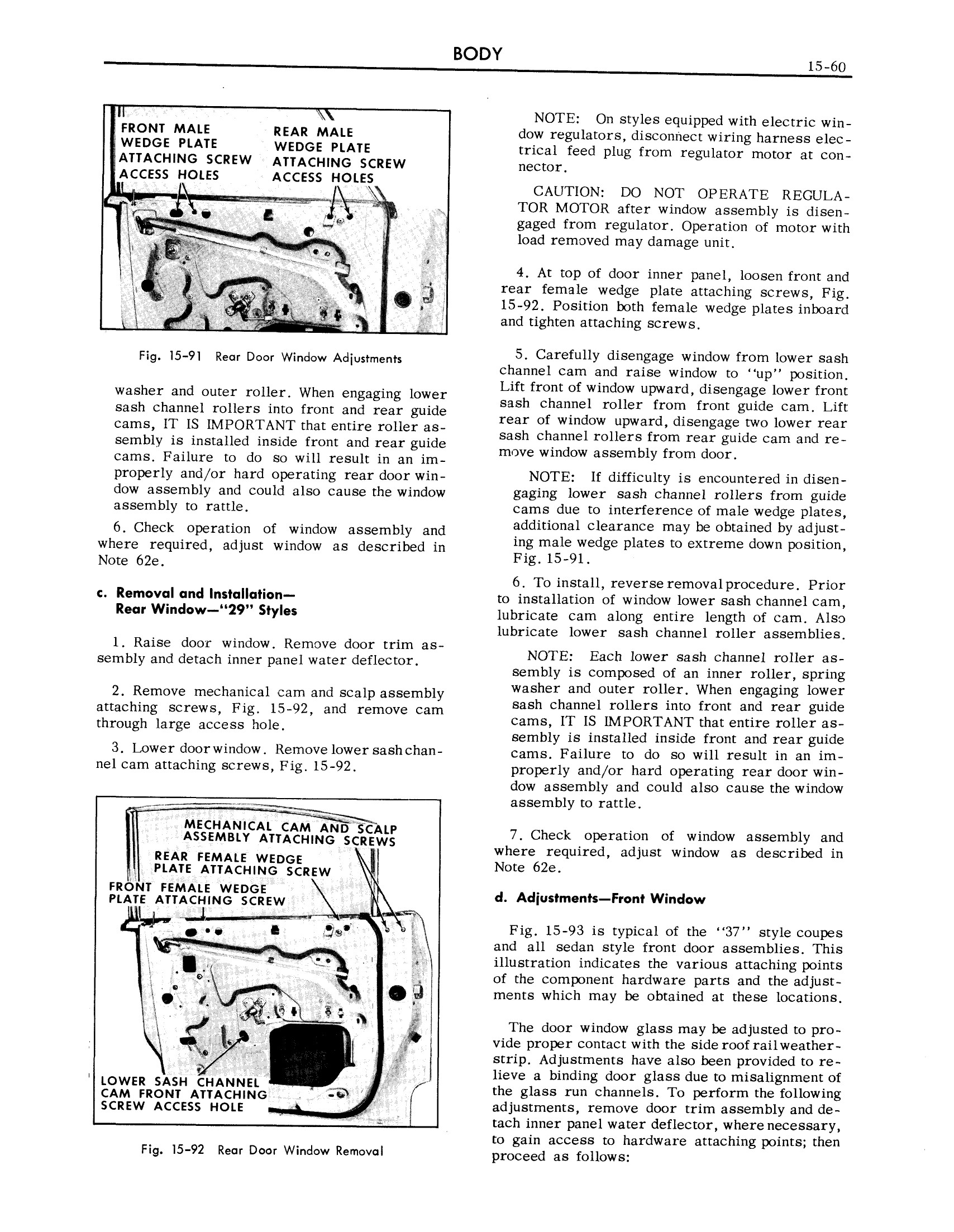 1959 Cadillac Shop Manual- Body Page 60 of 99