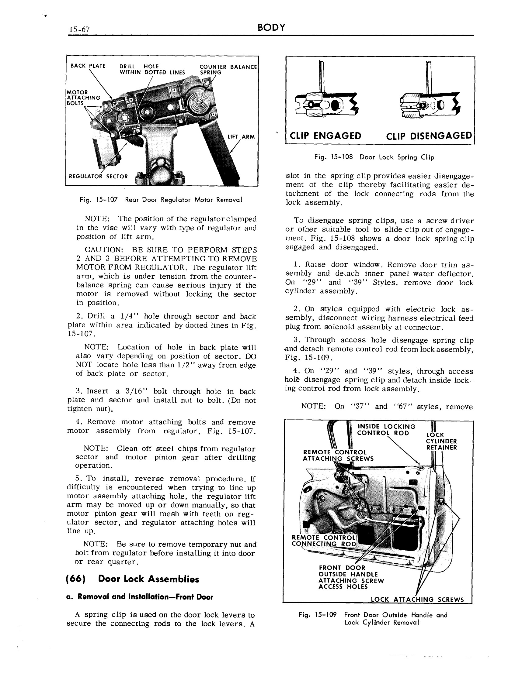 1959 Cadillac Shop Manual- Body Page 67 of 99