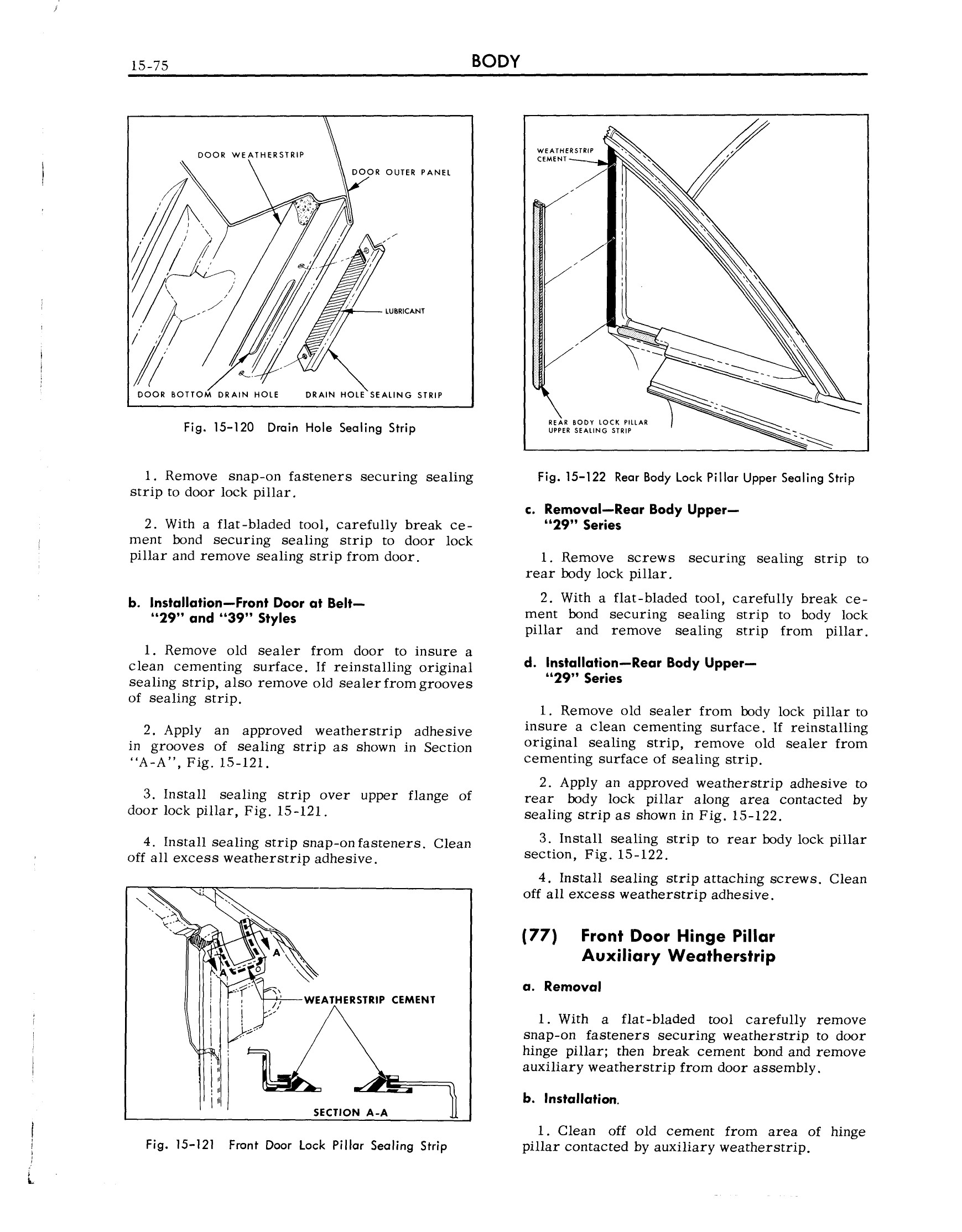 1959 Cadillac Shop Manual- Body Page 75 of 99