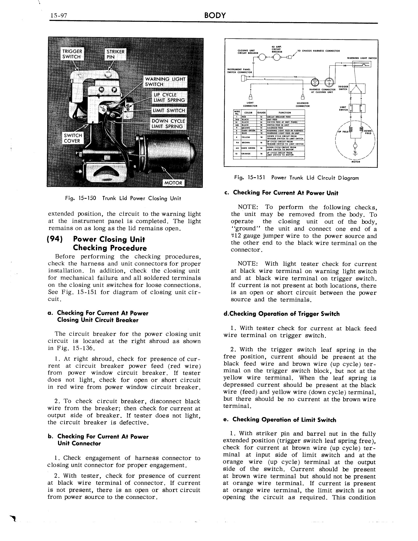 1959 Cadillac Shop Manual- Body Page 97 of 99