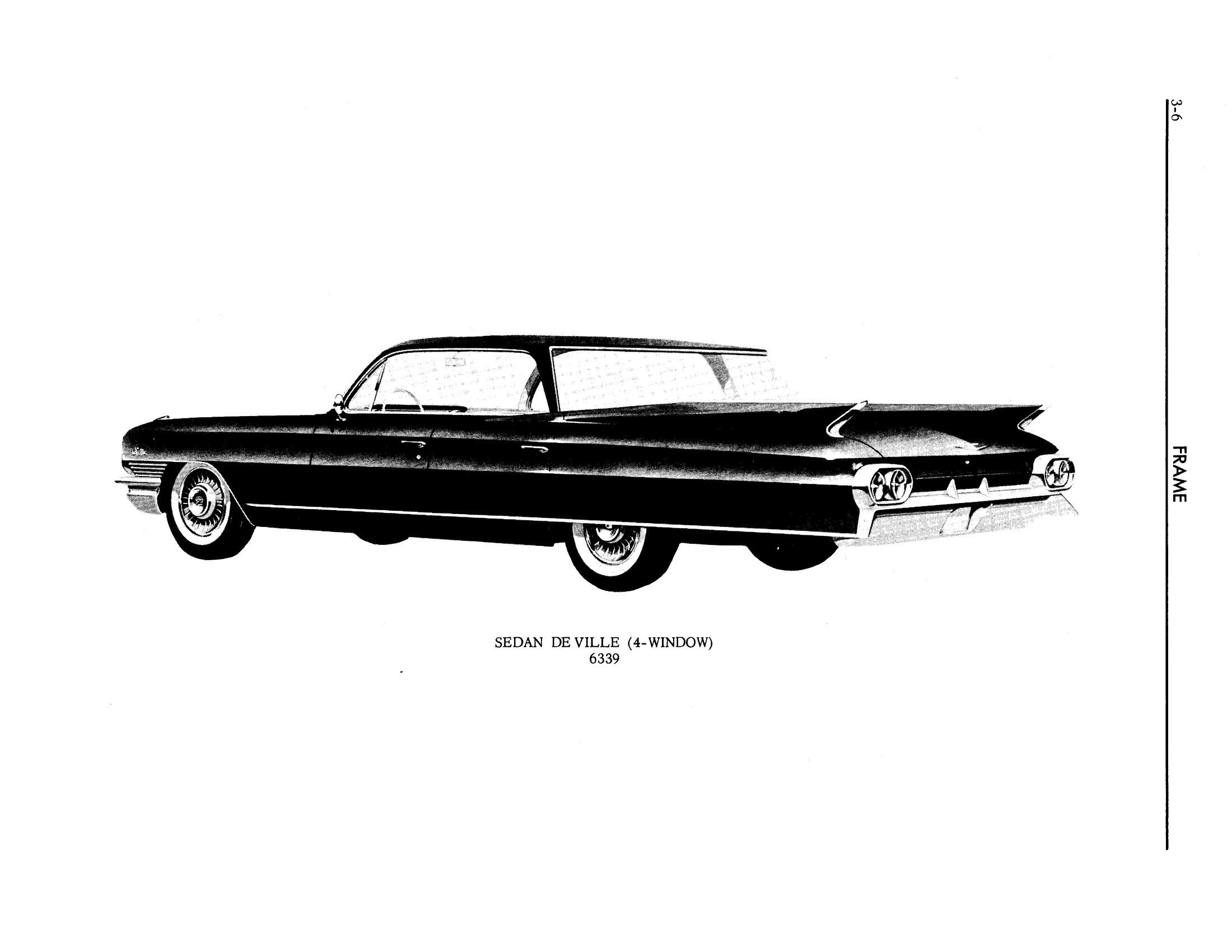 1961 Cadillac Shop Manual- Frame Page 6 of 6