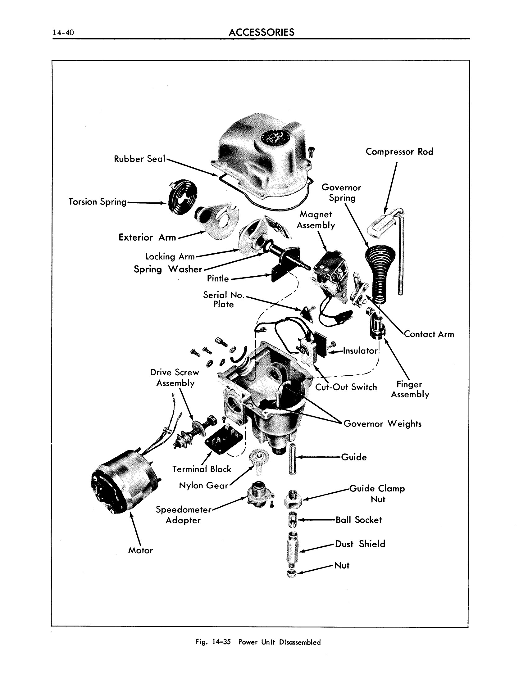 1961 Cadillac Shop Manual- Accessories Page 40 of 66