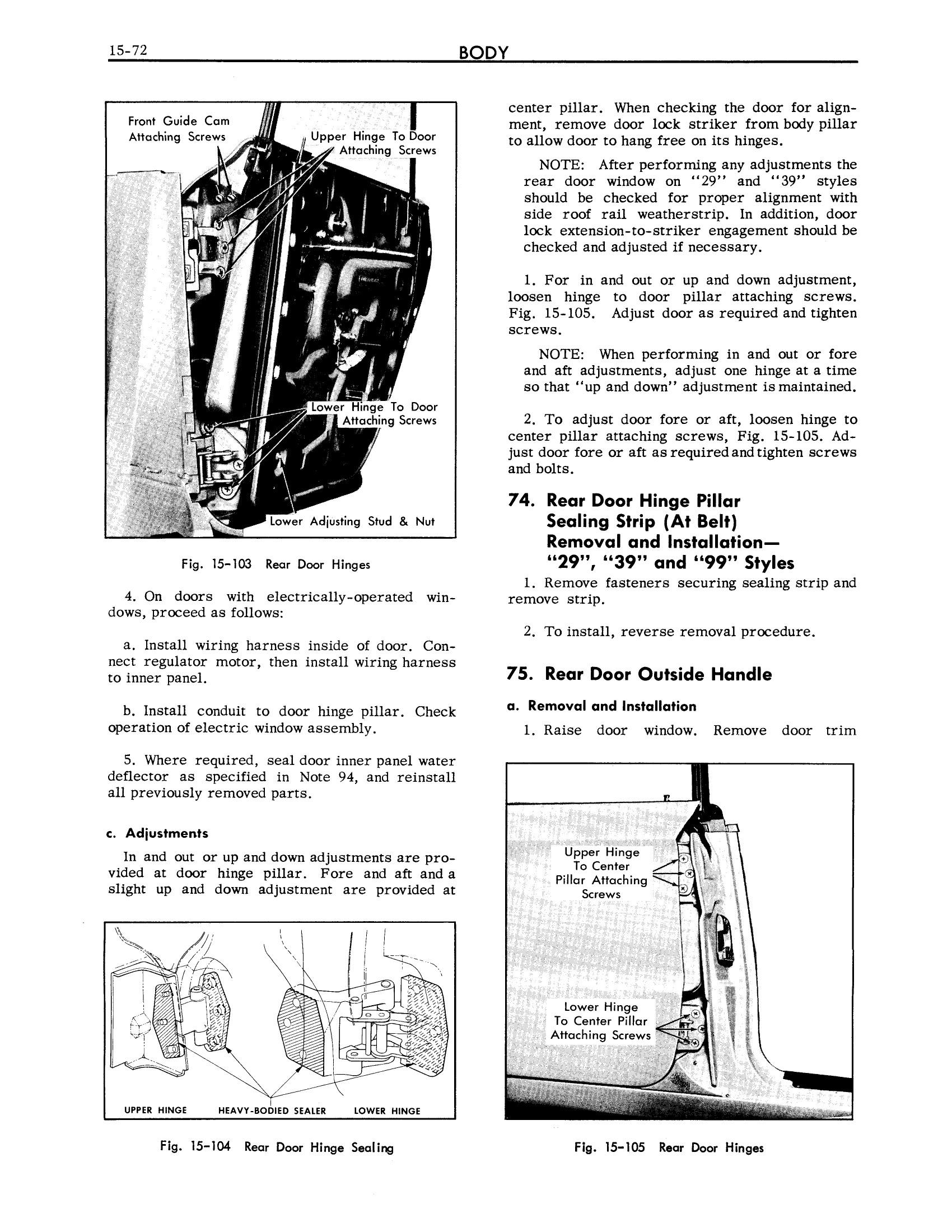 1961 Cadillac Shop Manual- Body Page 72 of 114