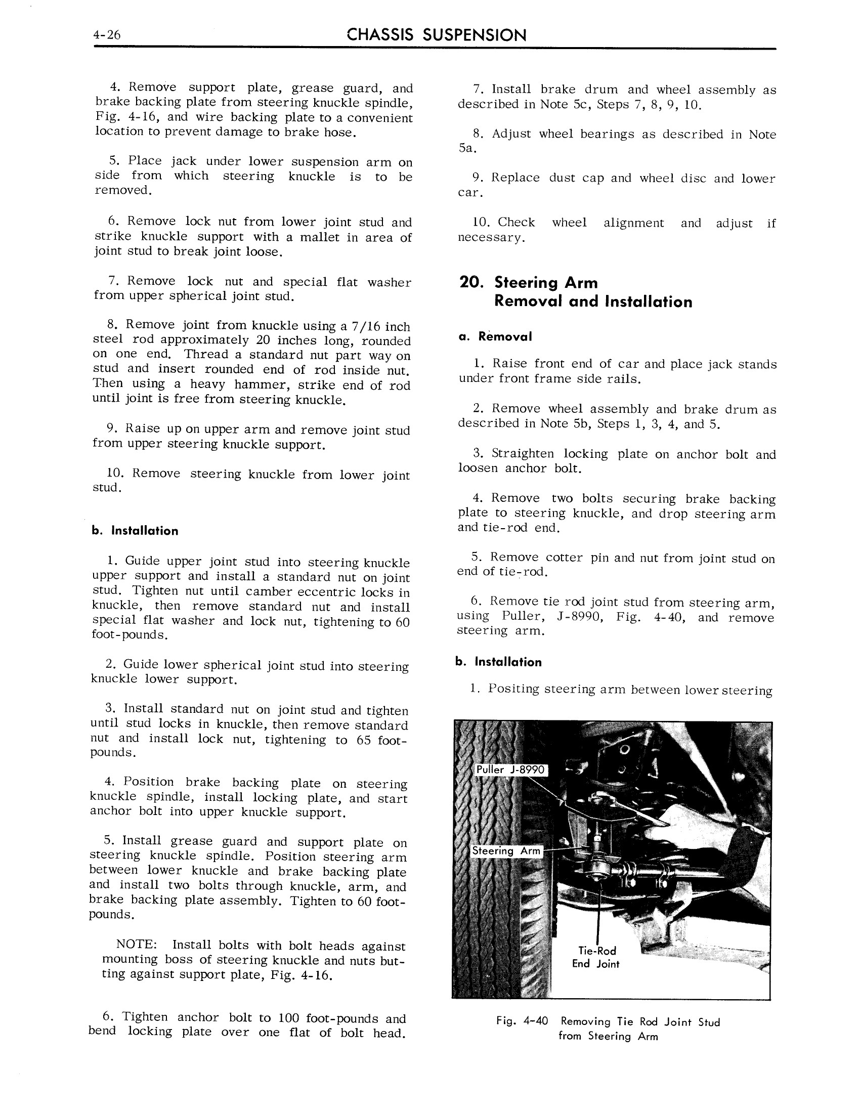 1963 Cadillac Shop Manual- Chassis Suspension Page 26 of 36
