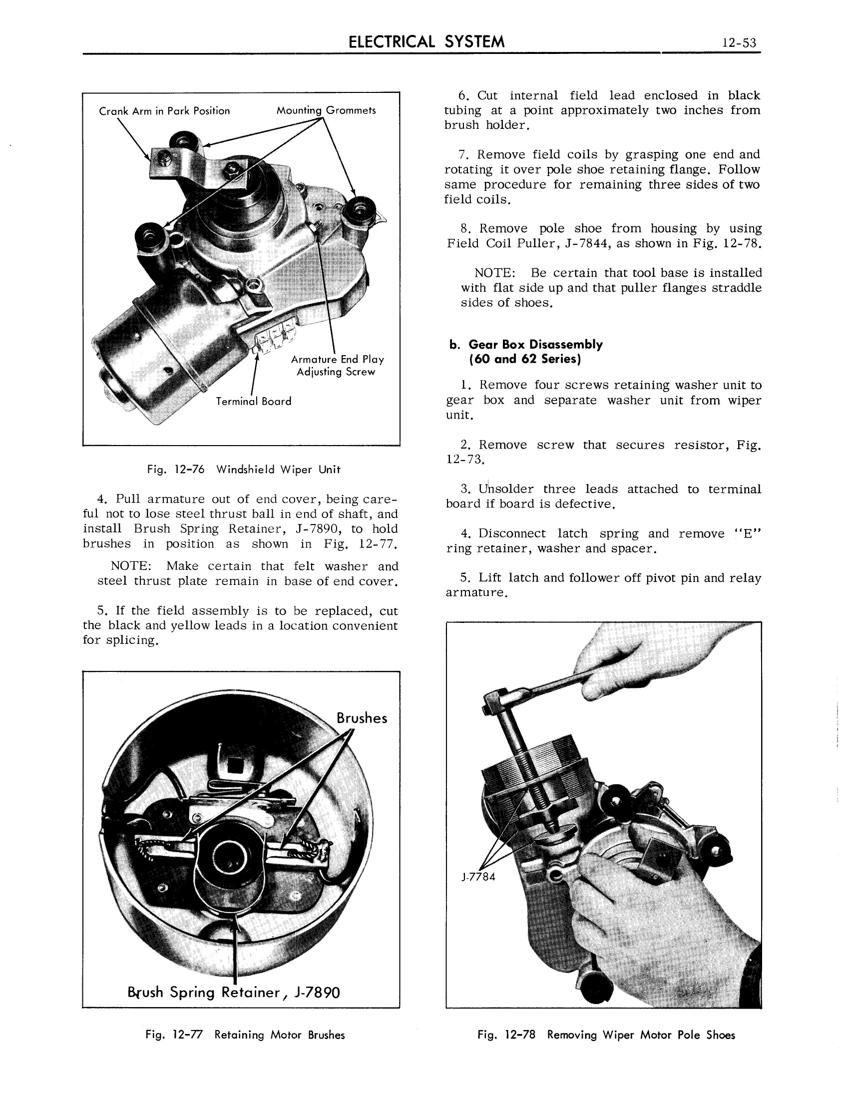 1963 Cadillac Shop Manual- Electrical System Page 53 of 100